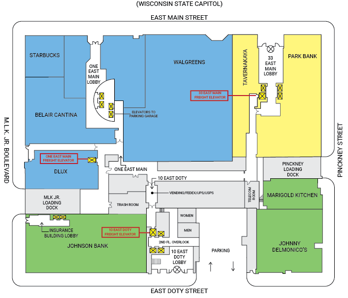 ULI Block 89 Service Core Map