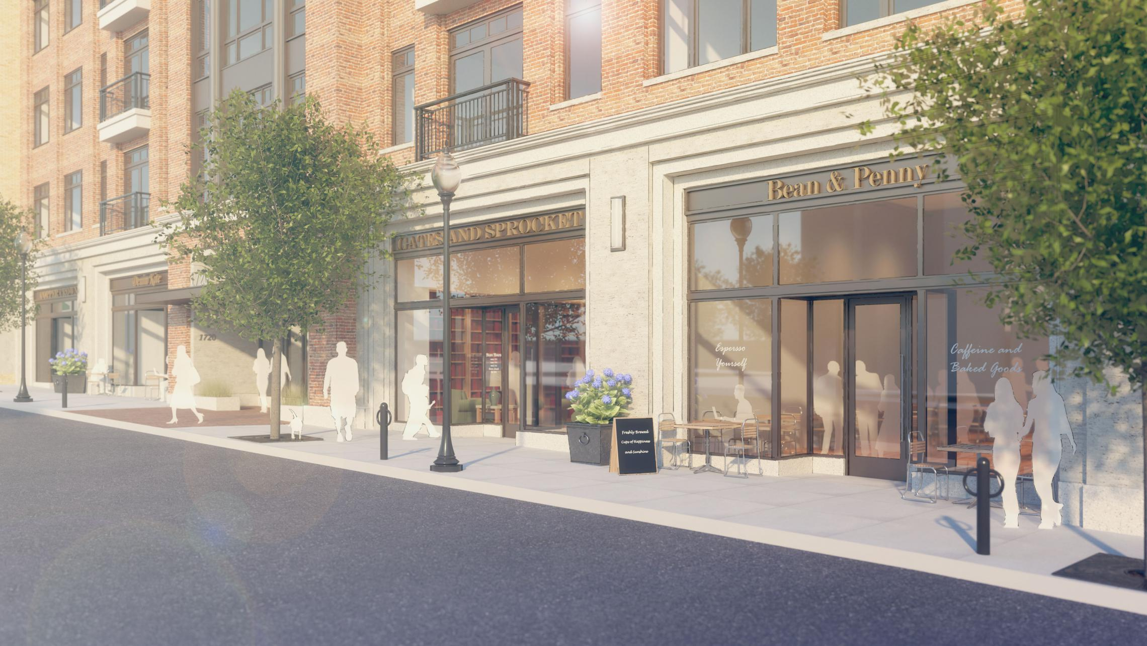 ULI 1722 Monroe Apartments Retail Rendering