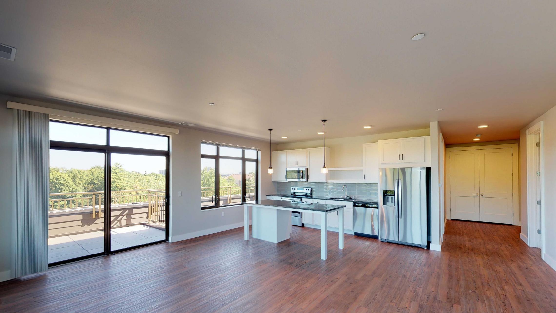 1722-Monroe-Apartment-520-Top Floor-Capitol View-Modern-Luxury-Two Bedroom-Terrace-Kitchen-Living Room.jpg