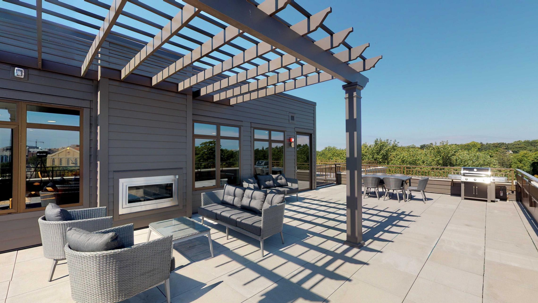 1722-Monroe-Rooftop-Terrace-Modern-Capitol View-City View-Luxury-Design-Apartments-Living-Fireplace