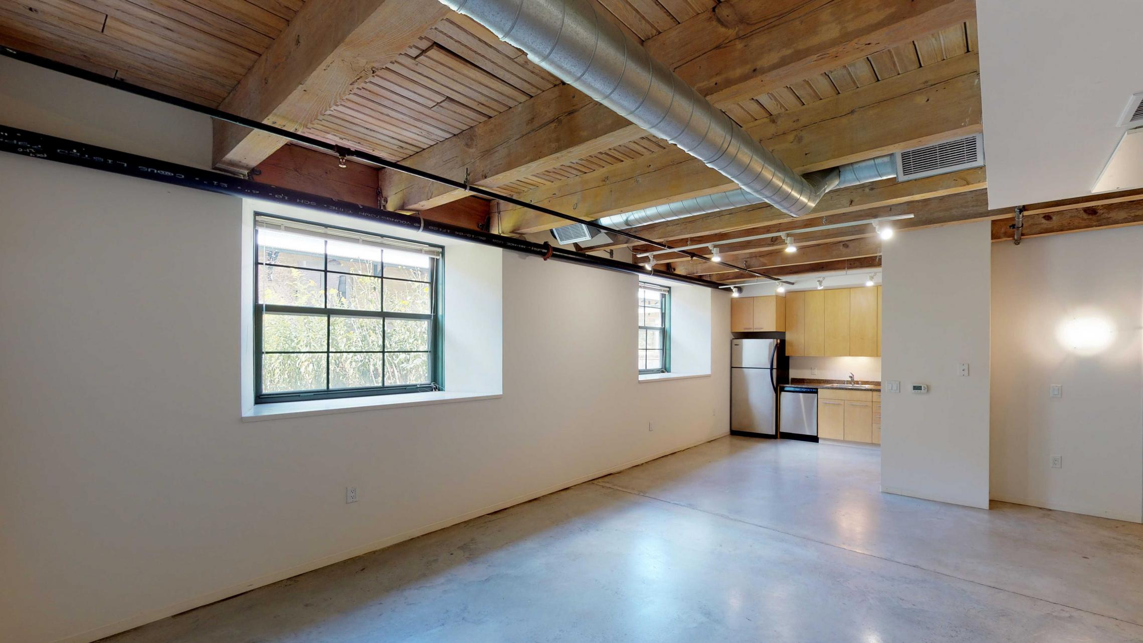 Tobacco-Lofts-Apartment-E102-Kitchen-Historic-Downtown-Madison-Polished-Concrete