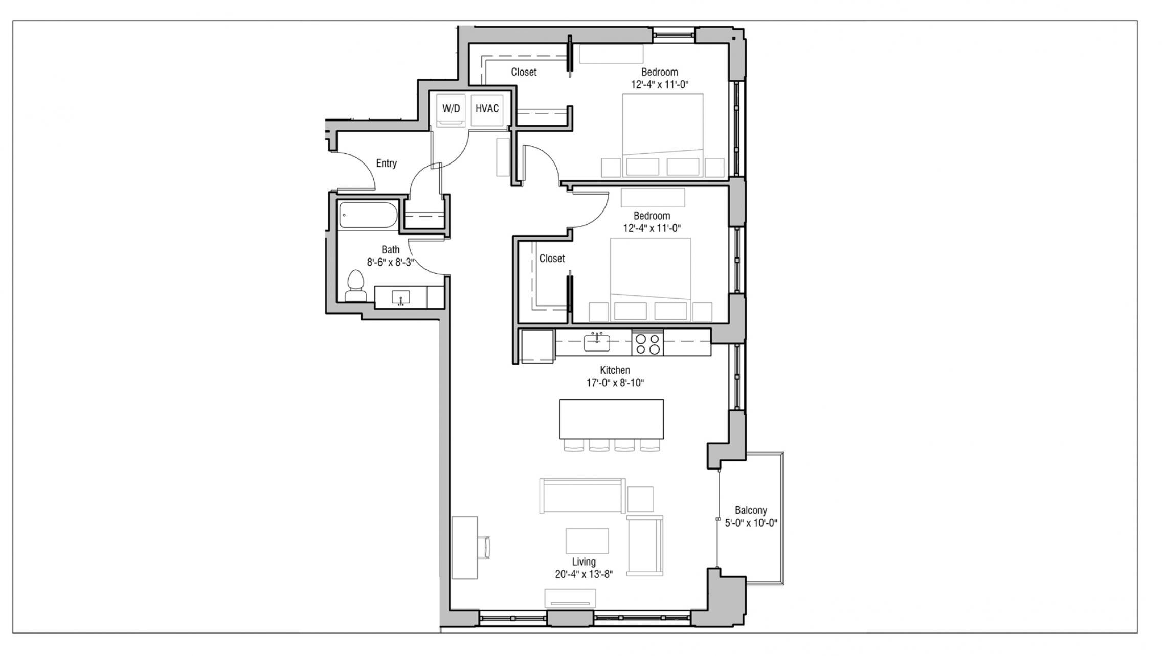 ULI 1722 Monroe 201 - Two Bedroom, Two Bathroom
