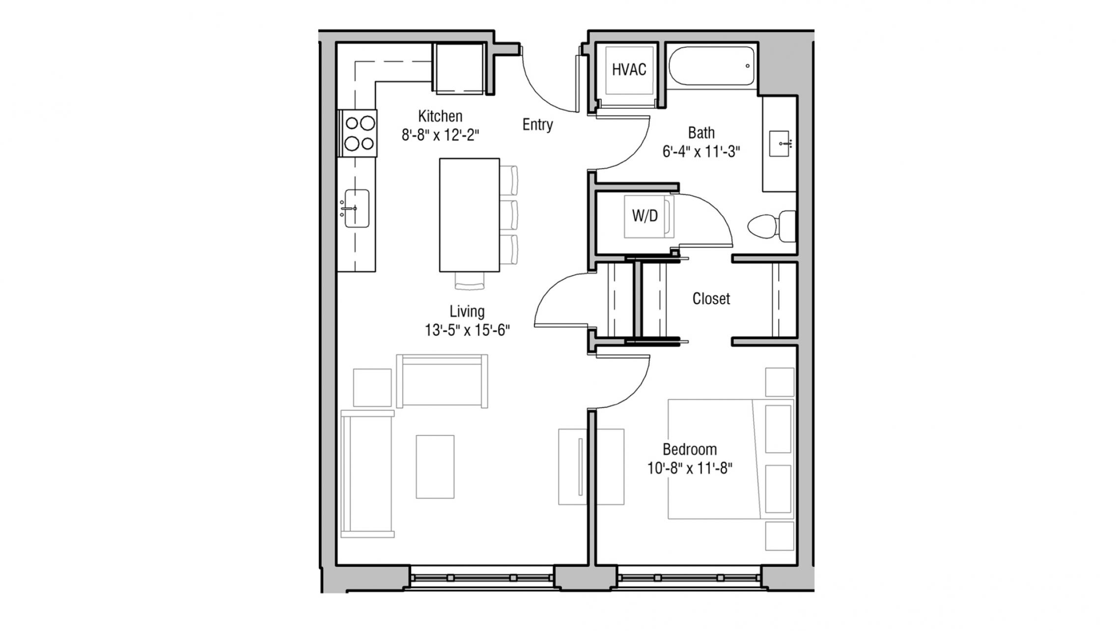 ULI 1722 Monroe 205 - One Bedroom, One Bathroom