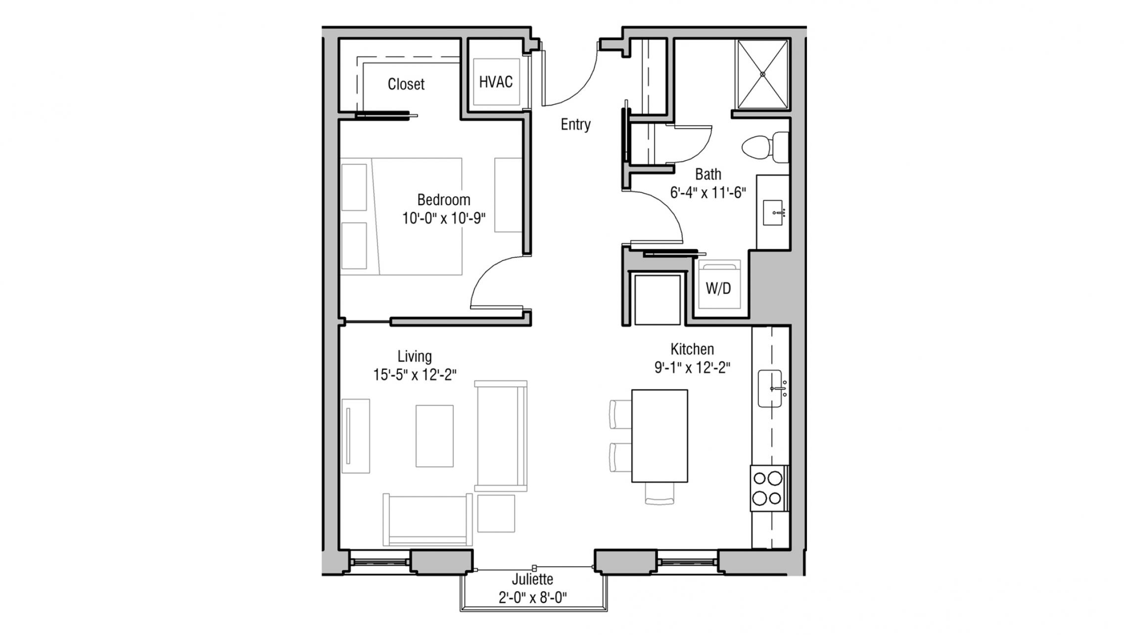 ULI 1722 Monroe 207 - One Bedroom, One Bathroom