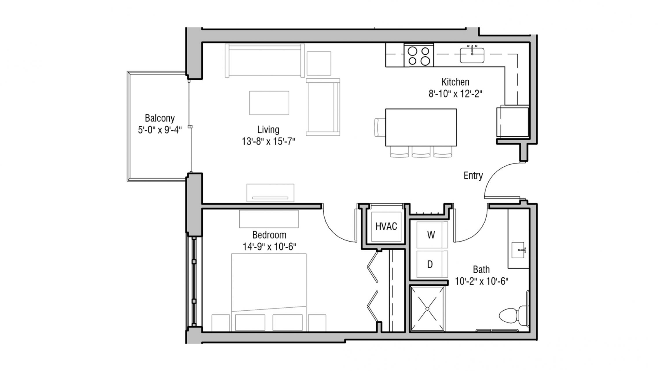 ULI 1722 Monroe 208 - One Bedroom, One Bathroom
