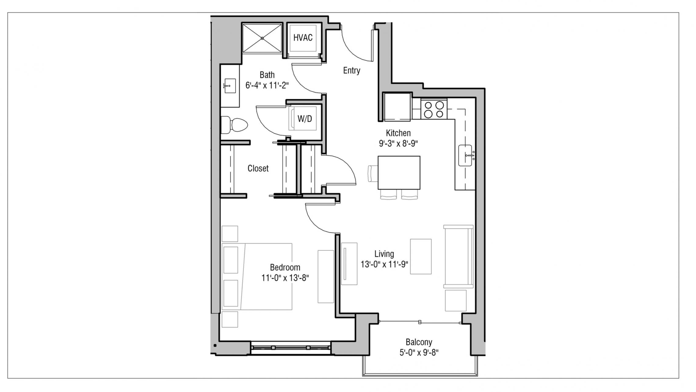 ULI 1722 Monroe 303 - One Bedroom, One Bathroom
