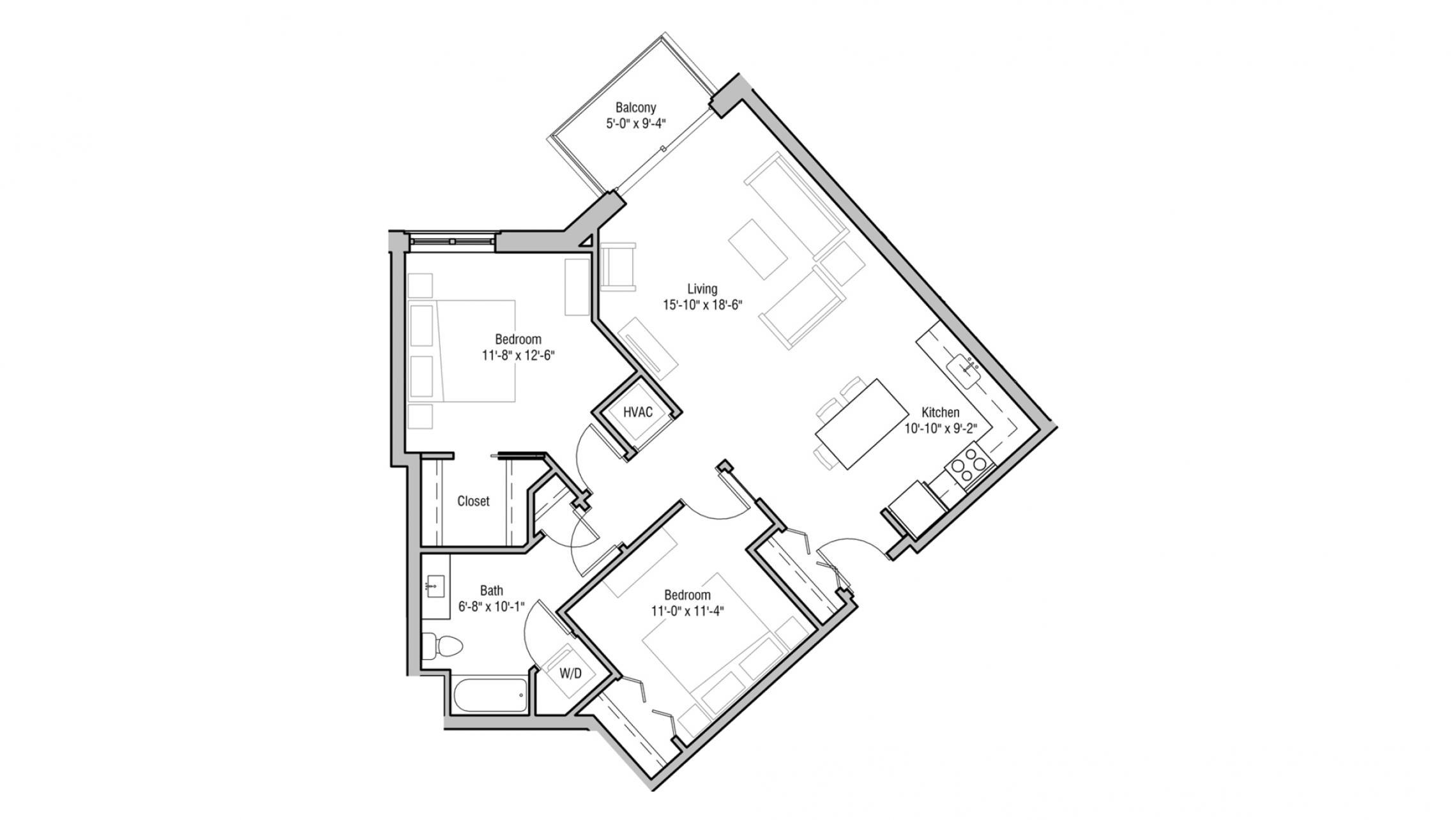 ULI 1722 Monroe 314 - Two Bedroom, Two Bathroom