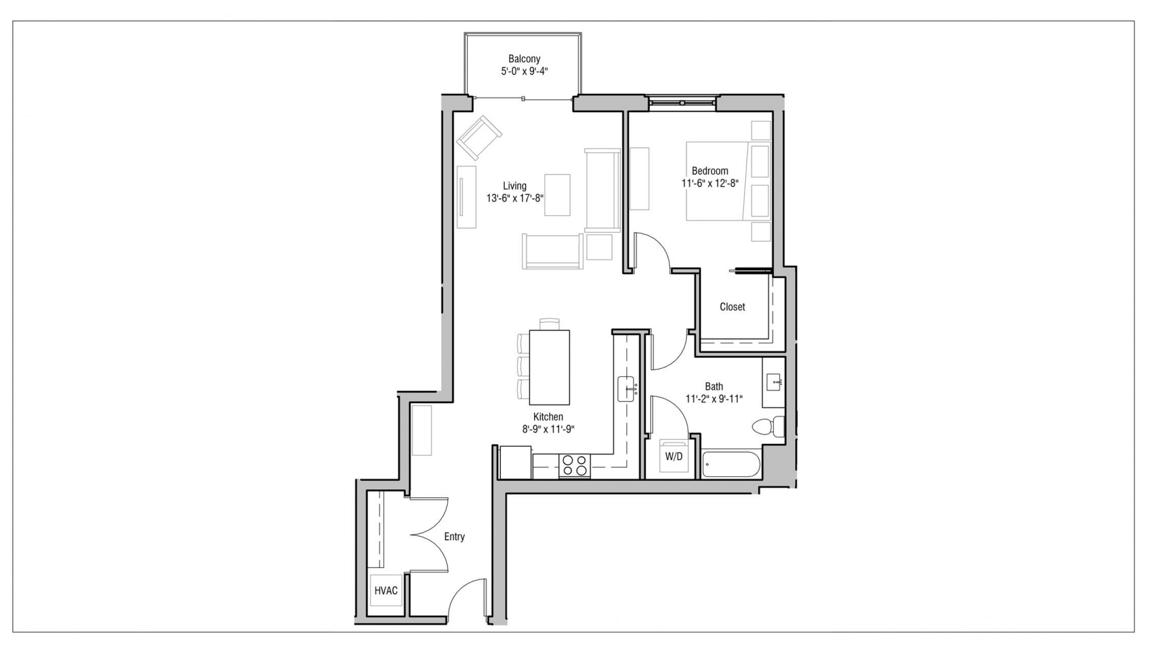 ULI 1722 Monroe 318 - One Bedroom, One Bathroom
