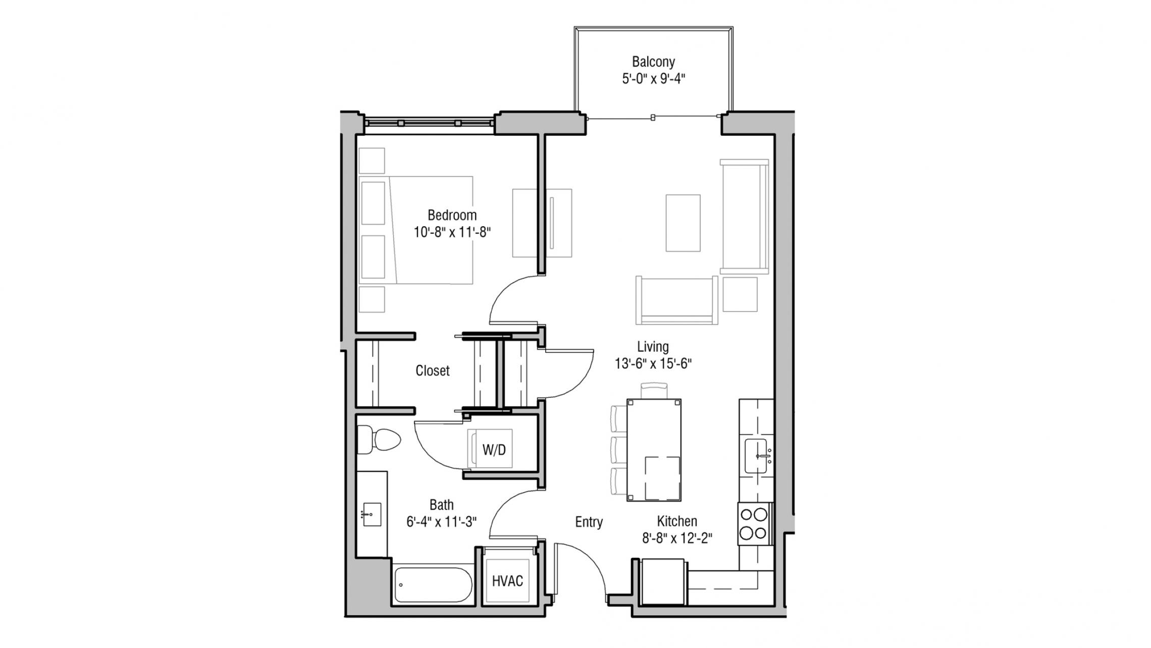 ULI 1722 Monroe 408 - One Bedroom, One Bathroom