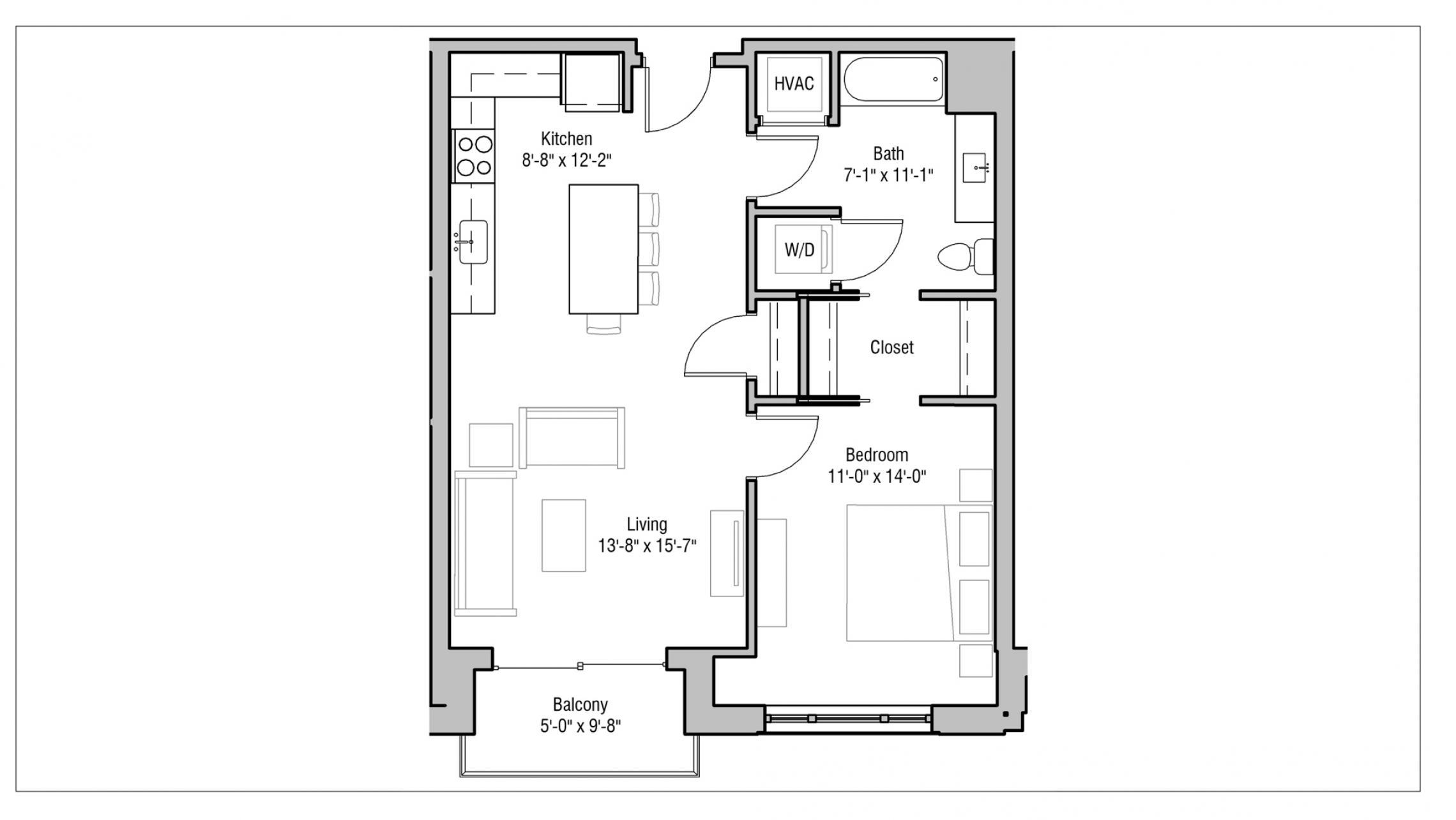 ULI 1722 Monroe 415 - One Bedroom, One Bathroom