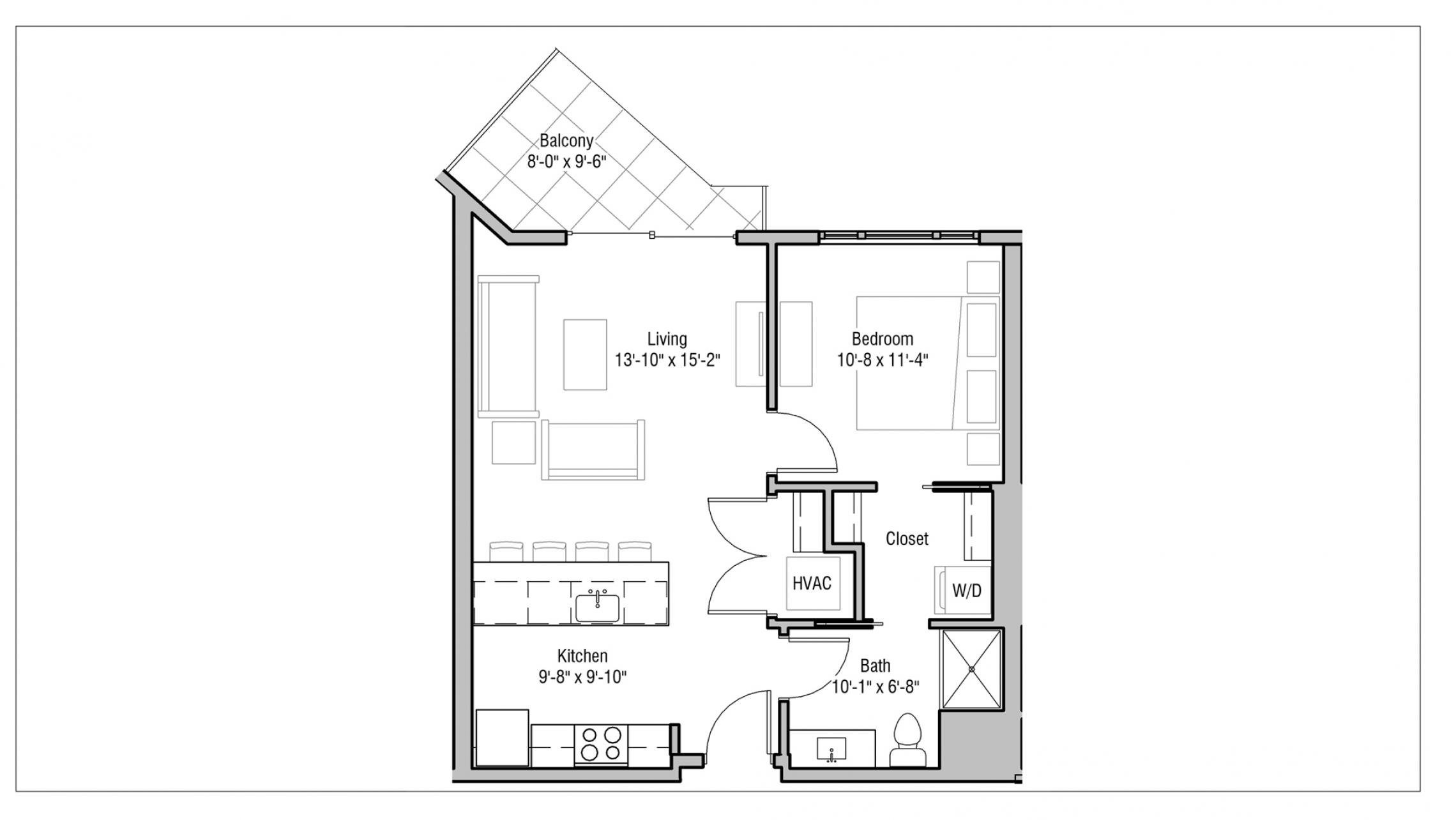ULI 1722 Monroe 512 - One Bedroom, One Bathroom