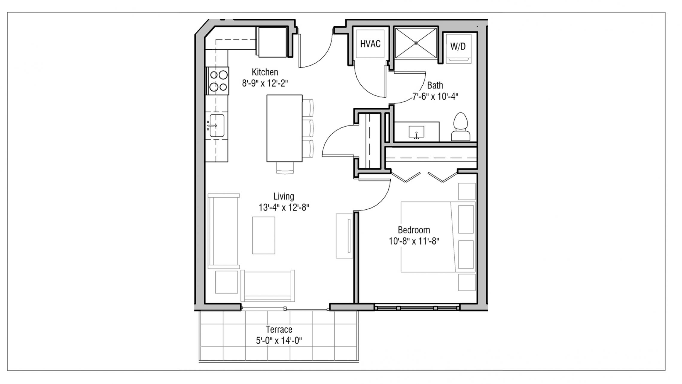 ULI 1722 Monroe 515 - One Bedroom, One Bathroom