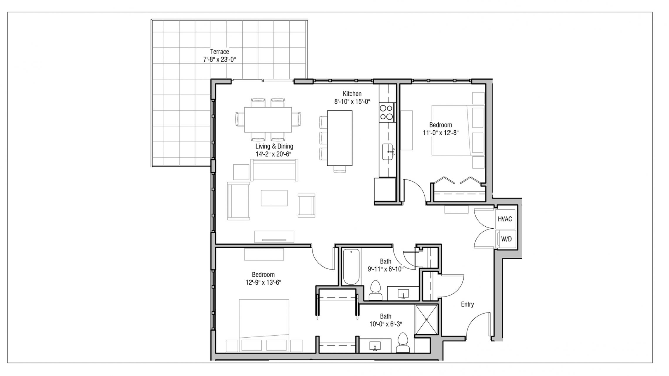ULI 1722 Monroe 520 - Two Bedroom, Two Bathroom