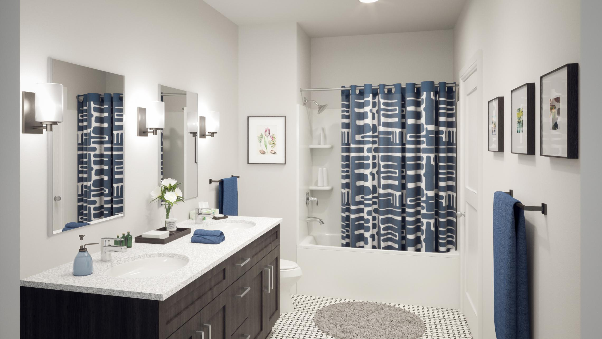 ULI 1722 Monroe Apartments Bathroom Rendering