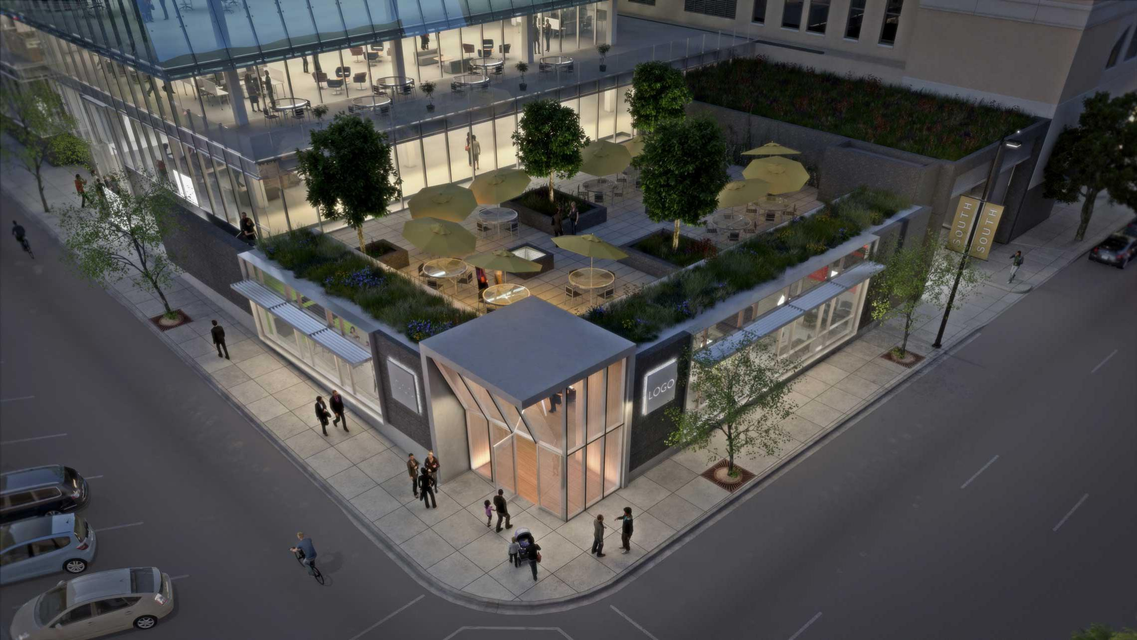 ULI 25 West Main Rendering - Doty Street Patio