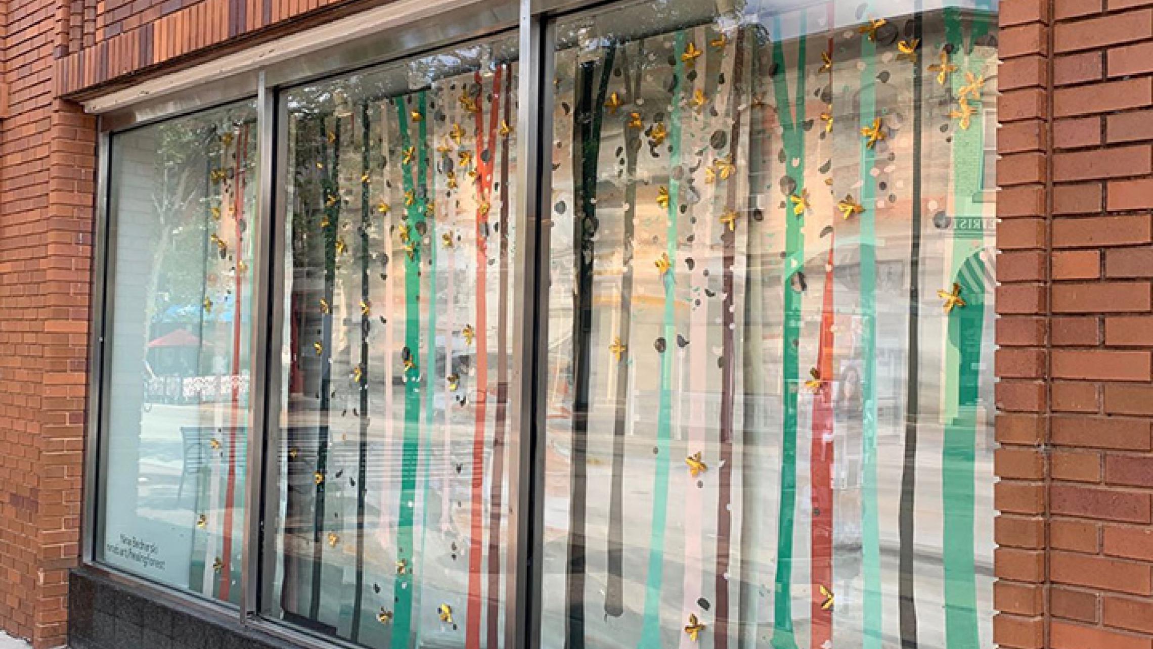 Art installation by Nina Bednarski at ULI's commercial property at 341 State Street