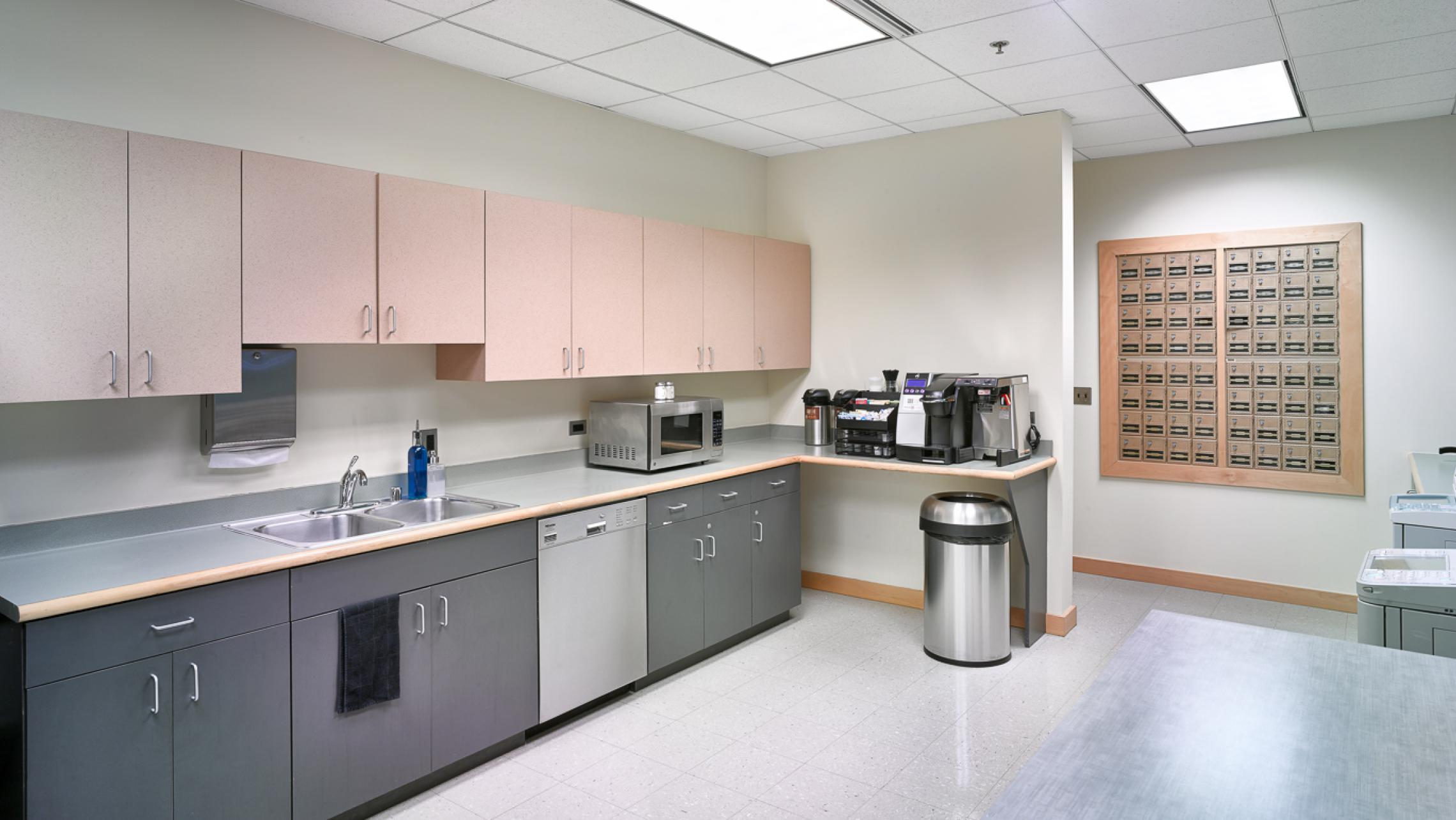 ULI Capitol Executive Suites - Break Room with Copiers, Coffee, Mail