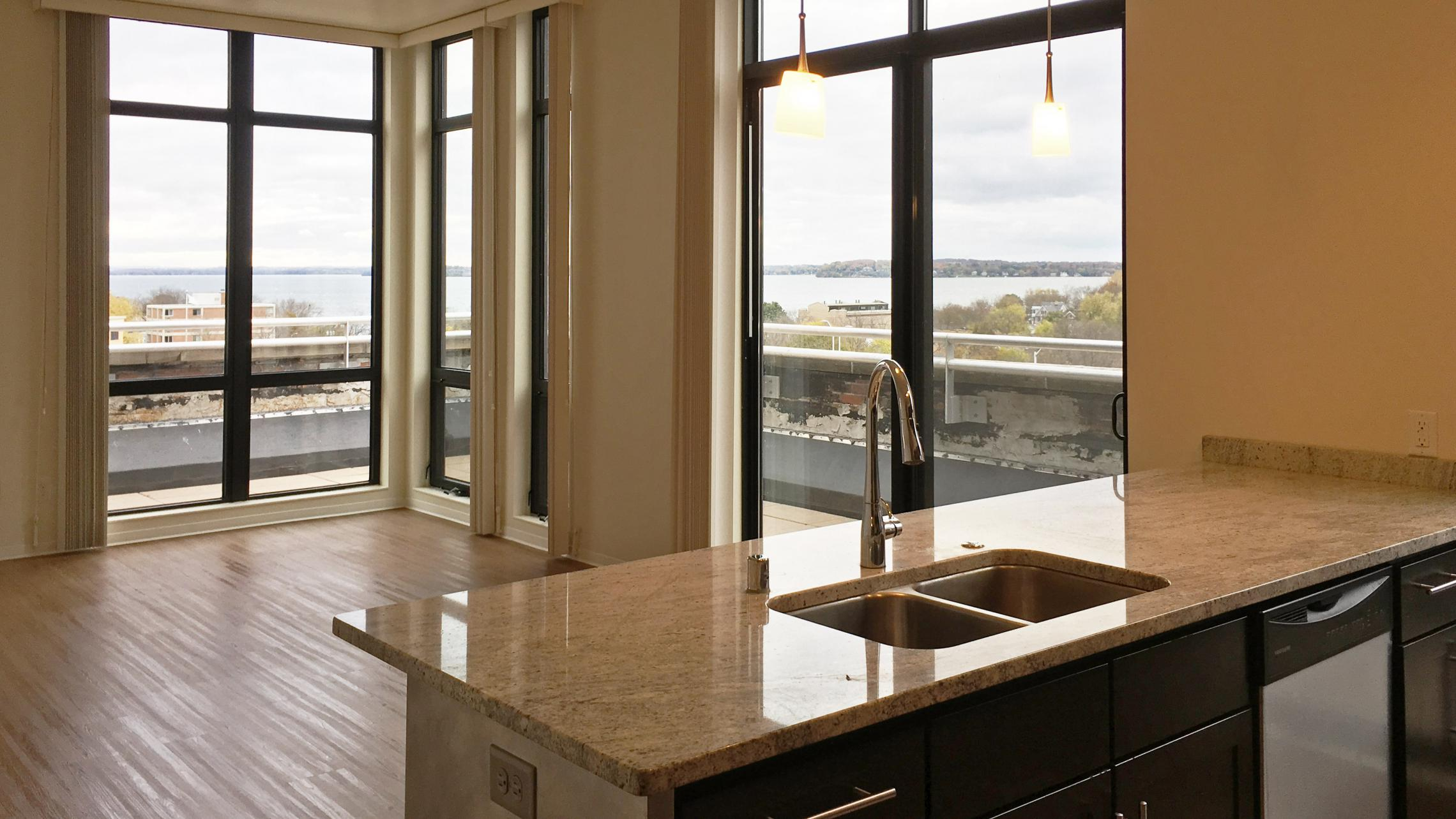 ULI Capitol Hill - Living Room with Lake Mendota View