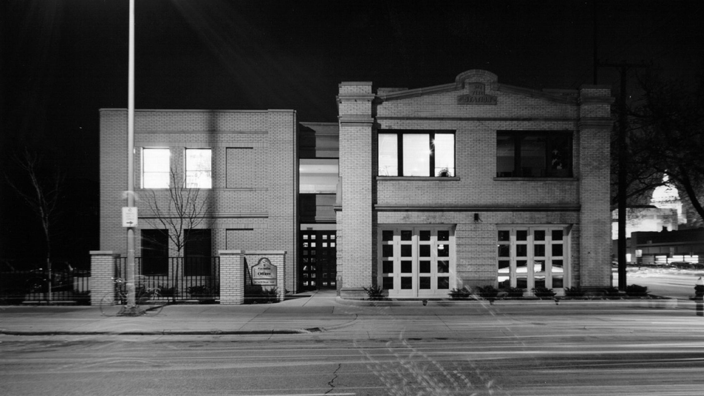 ULI Fire Station Number 2 - Black and White