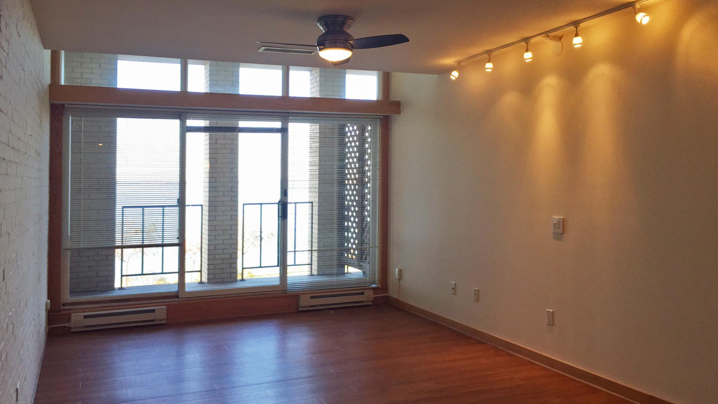 ULI Lincoln School Apartment 205 - Living Room with Lake Mendota View
