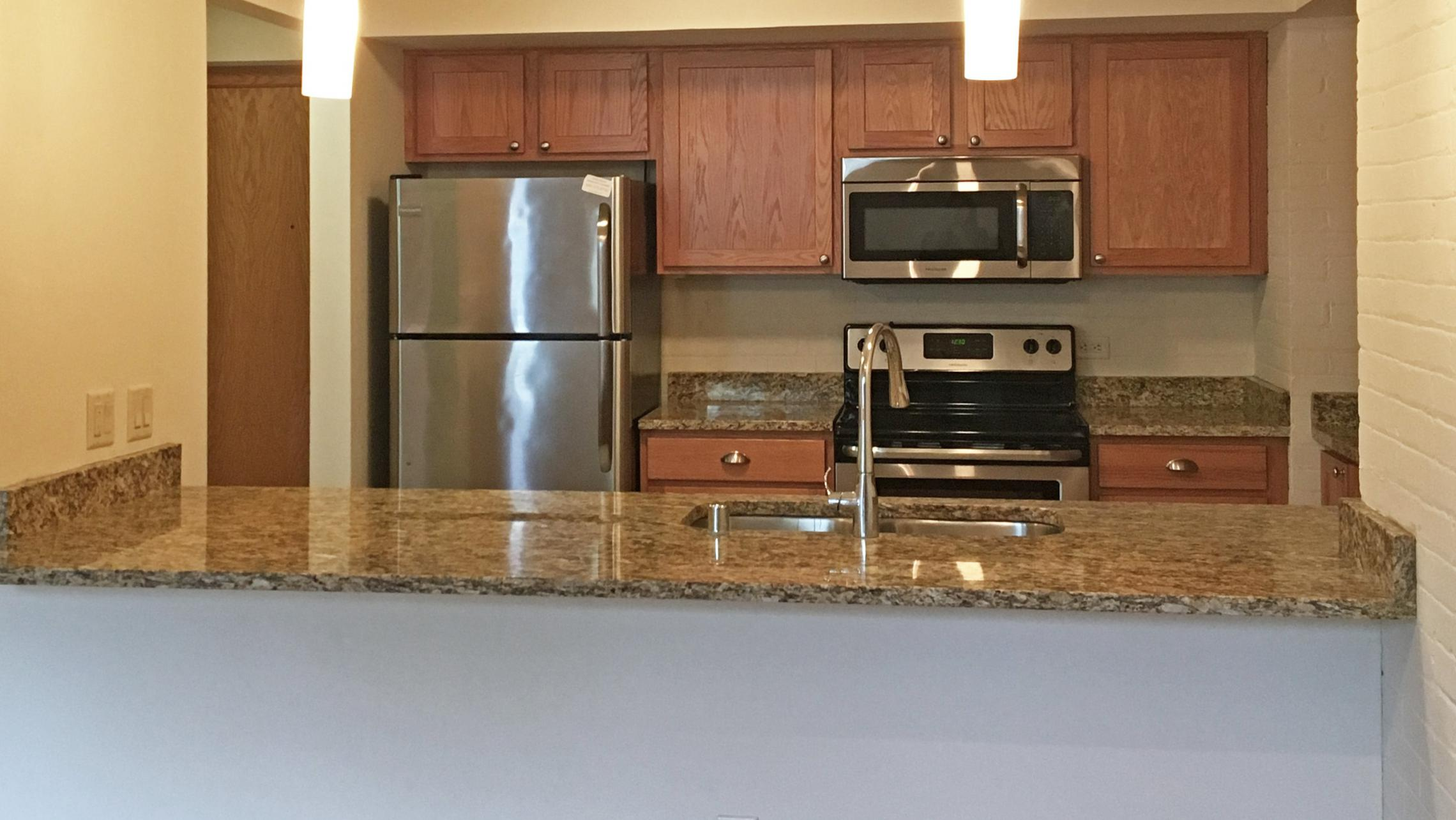 ULI Lincoln School Apartment 207 - Kitchen with Stainless Steel Appliances