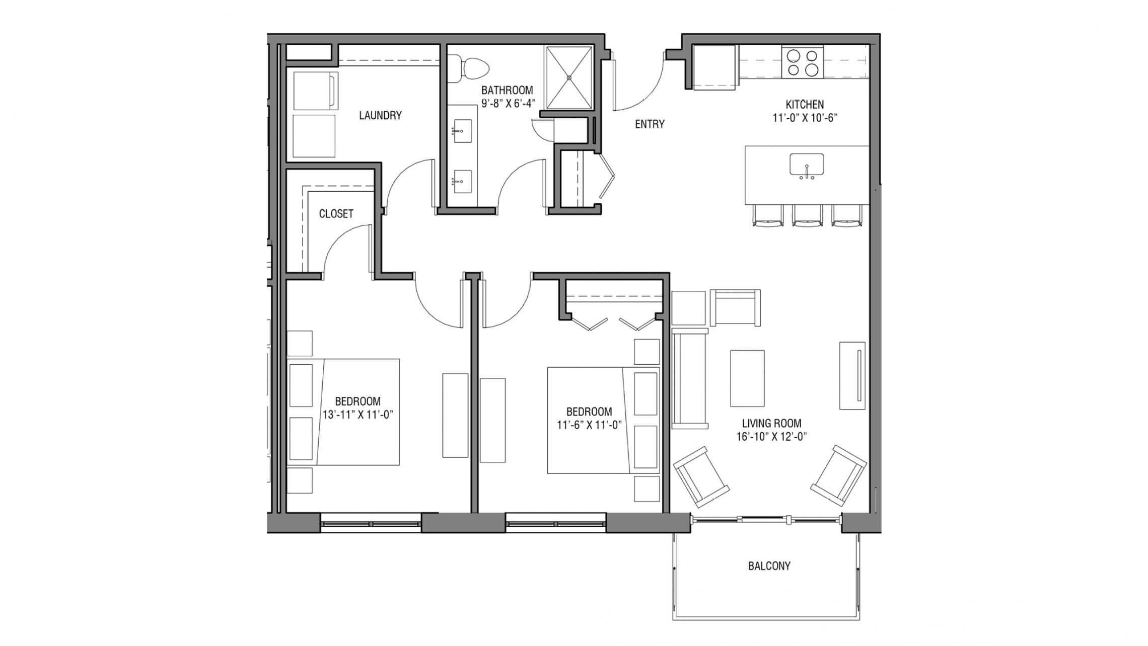 ULI Nine Line 223 - One Bedroom, One Bathroom