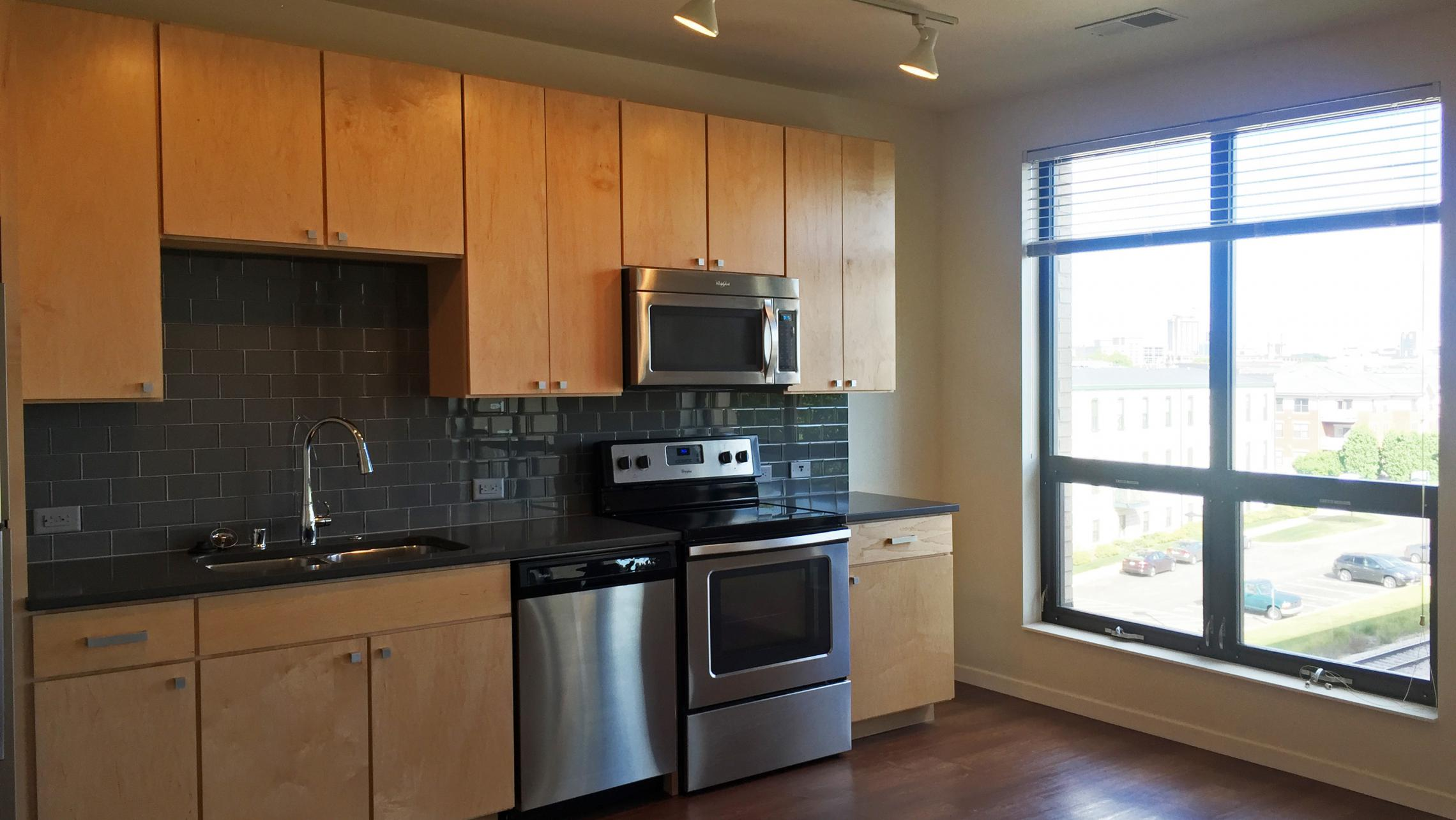 ULI Nine Line Apartment 212 - Kitchen with Natural Light