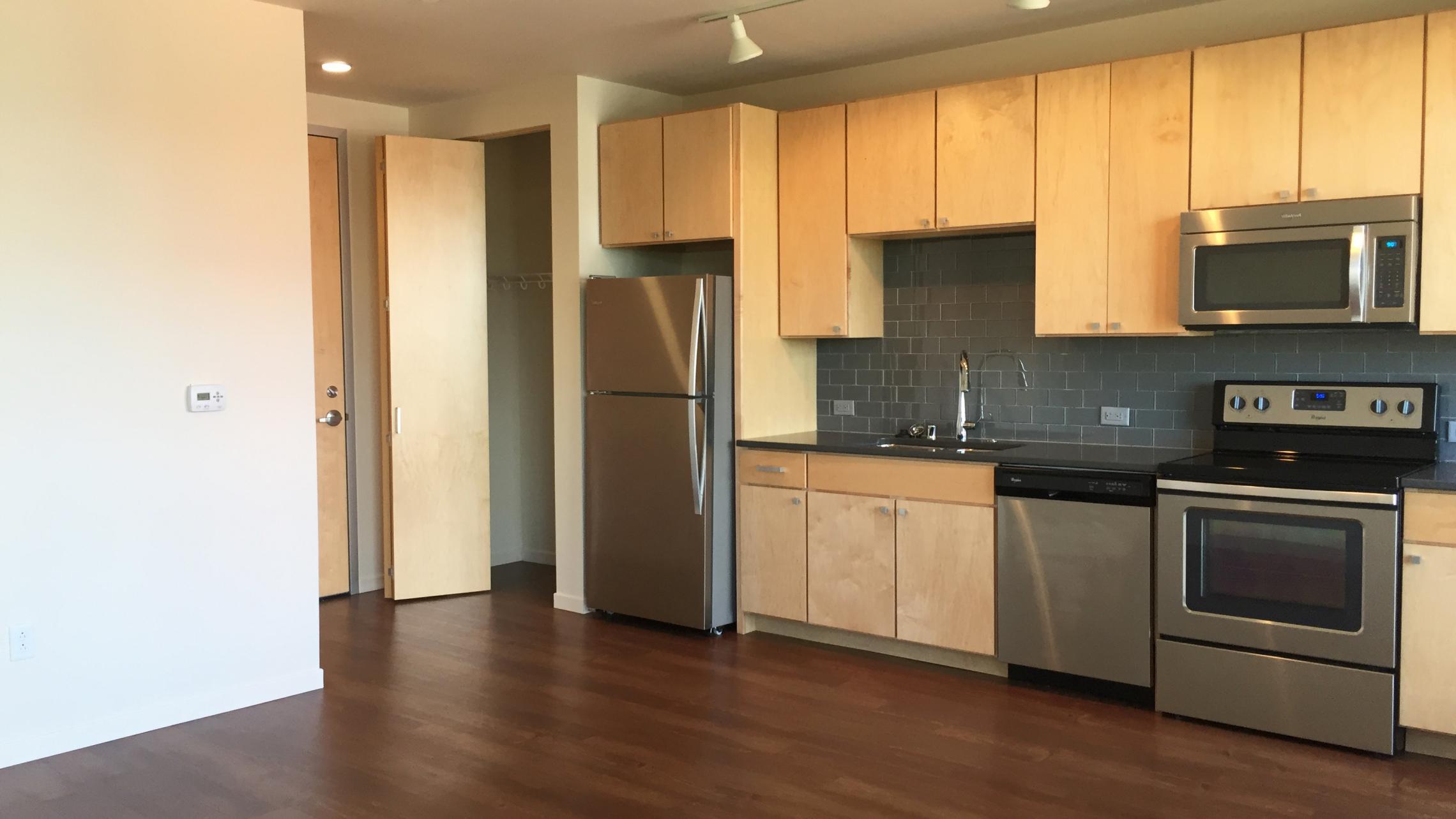 ULI Nine Line Apartment 212 - Kitchen
