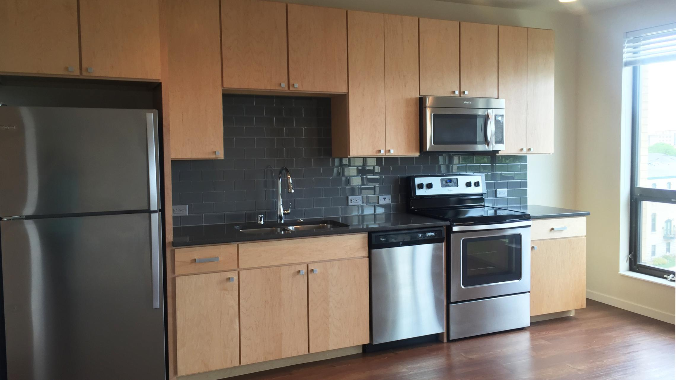 ULI Nine Line Apartment 512 - Kitchen