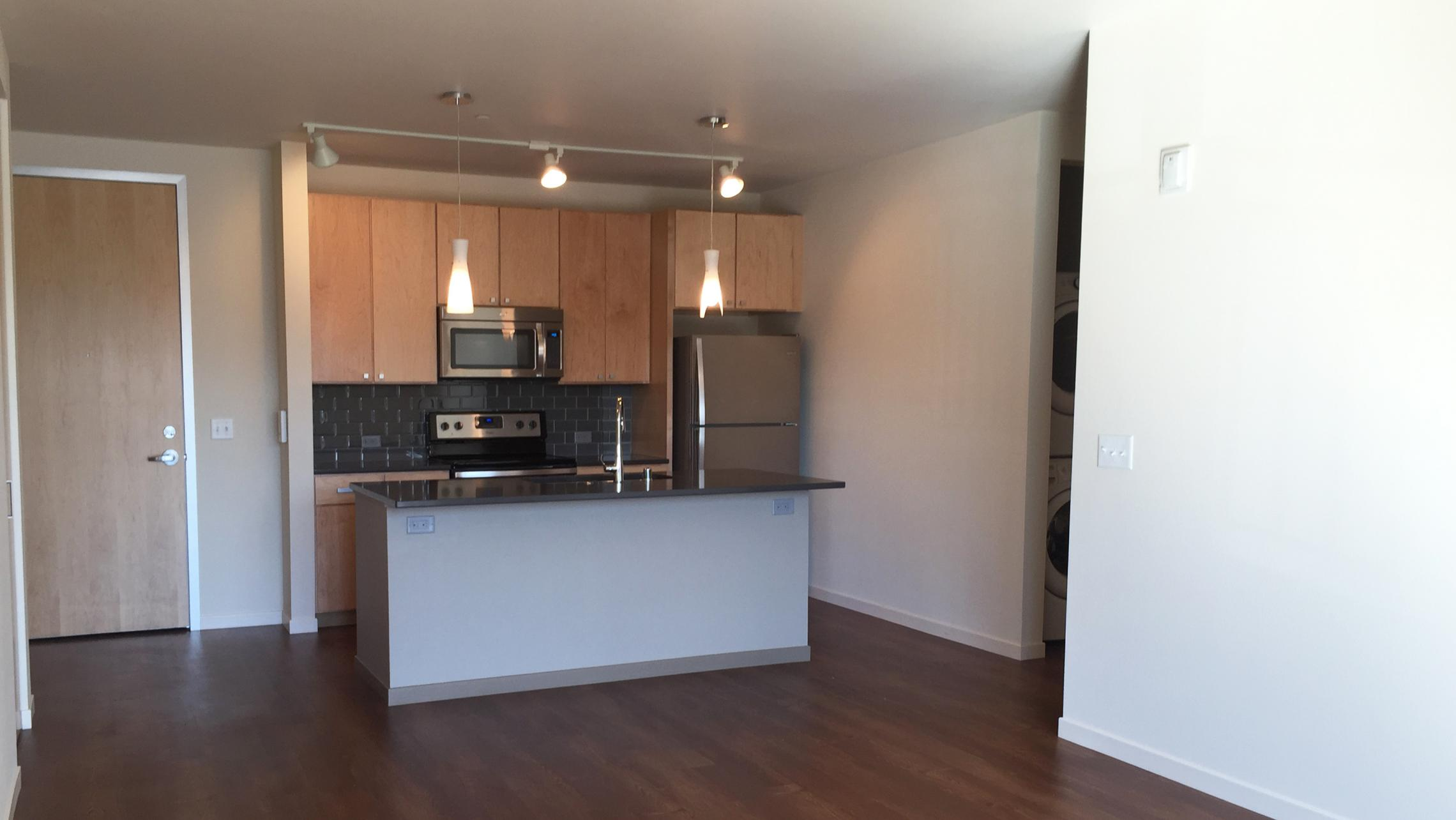 ULI Nine Line Apartment 515 - Kitchen with Stainless Steel Appliances