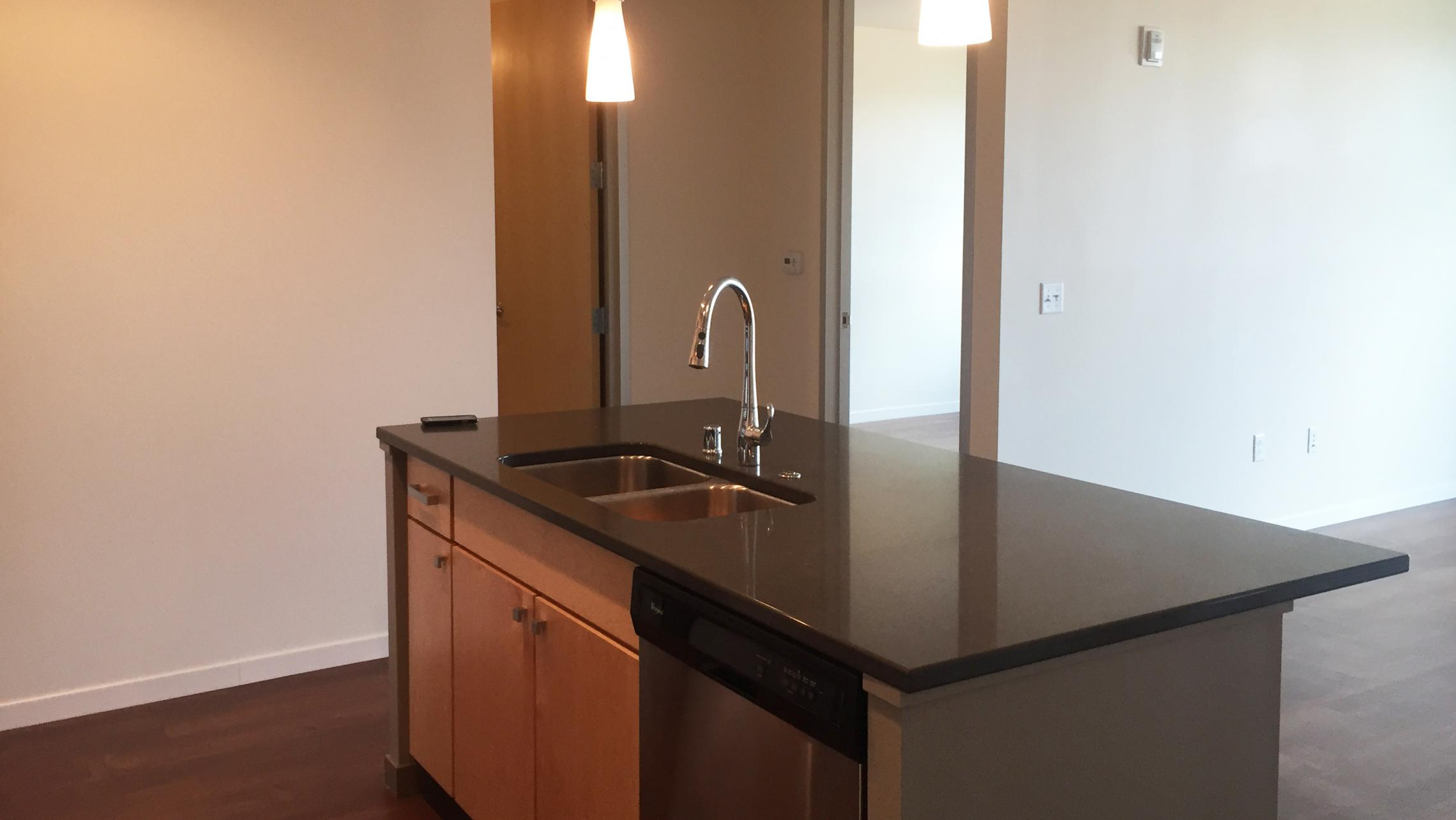 ULI Nine Line Apartment 519 - Kitchen Island