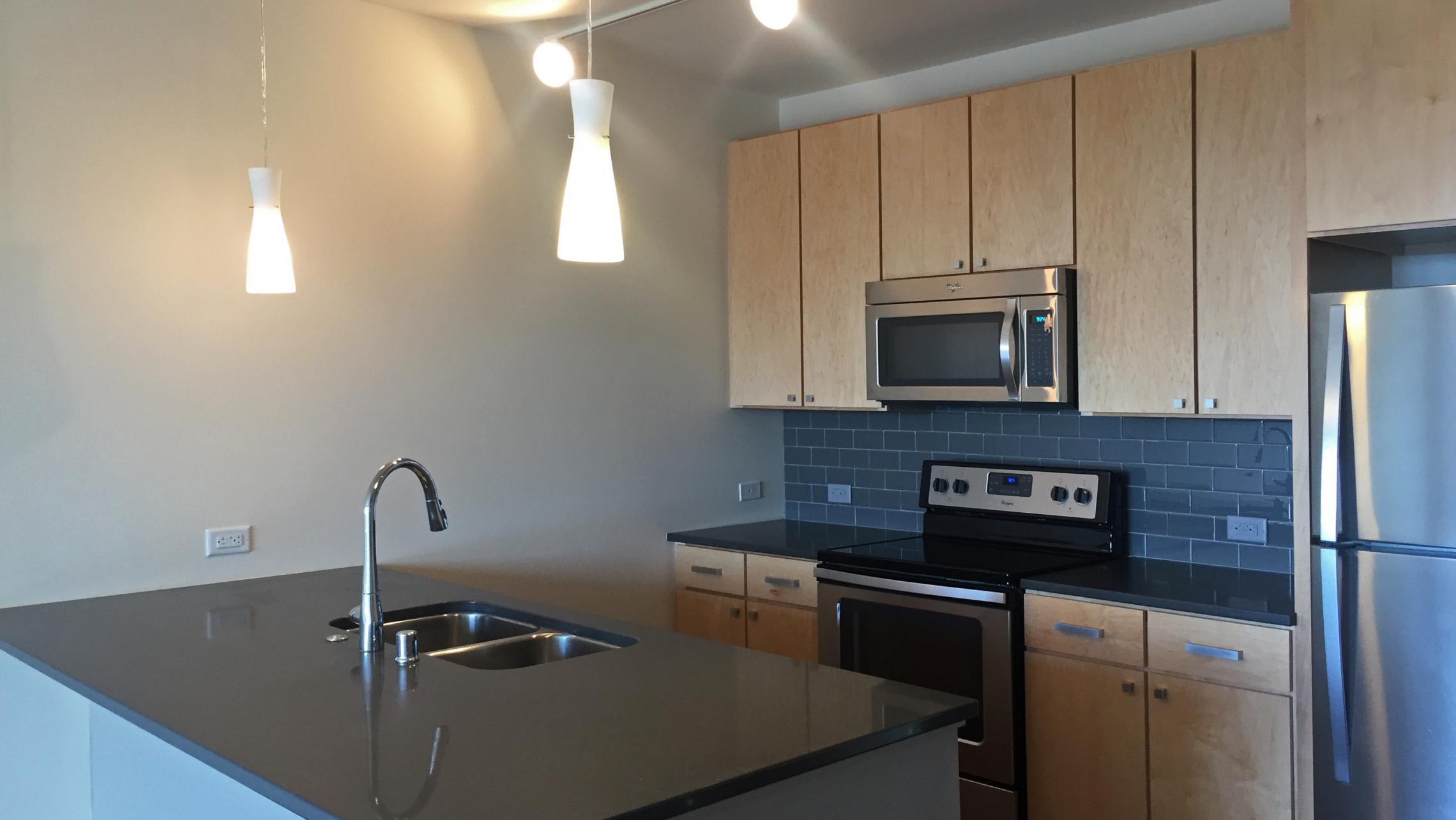 ULI Nine Line Apartments 523 - Kitchen Stainless Steel Appliances