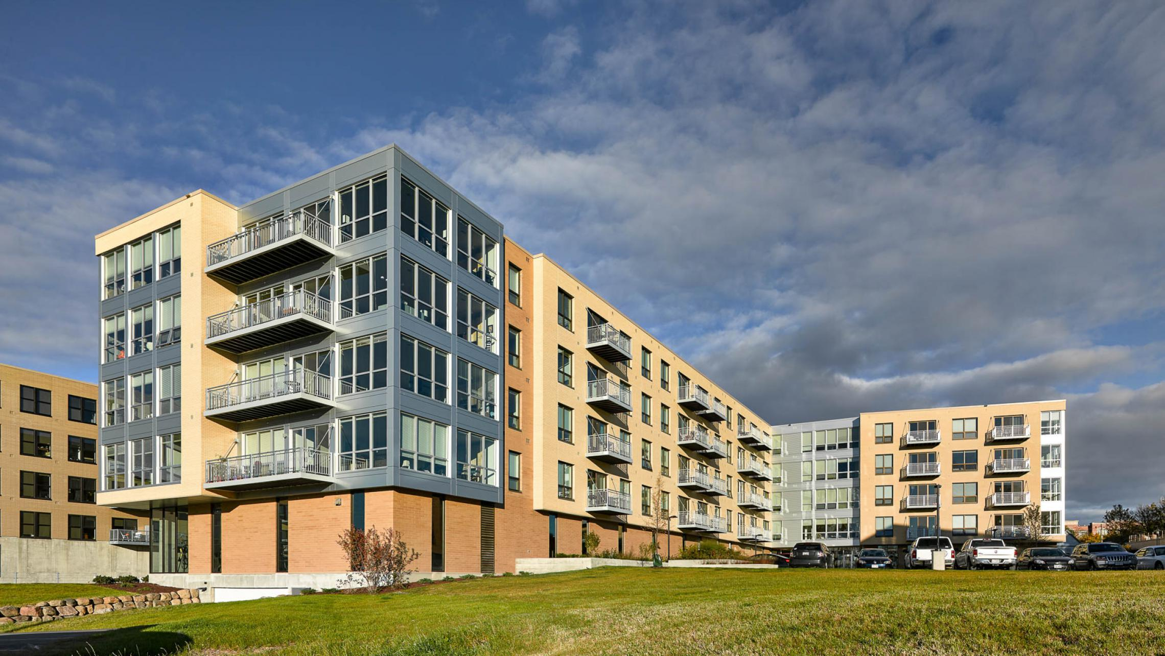 ULI Nine Line Apartments - Exterior of Modern Building