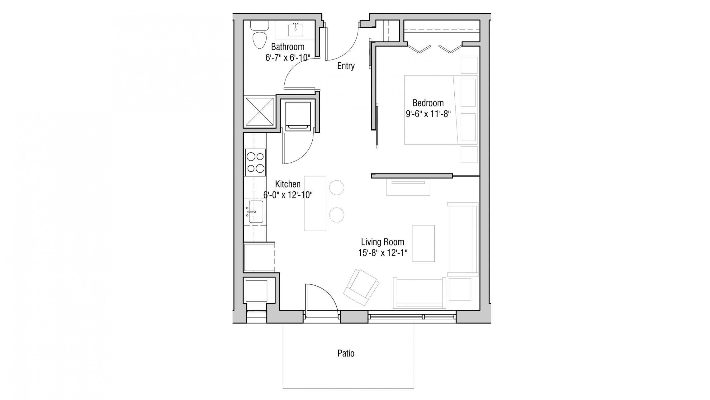 ULI Quarter Row 105 - One Bedroom, One Bathroom