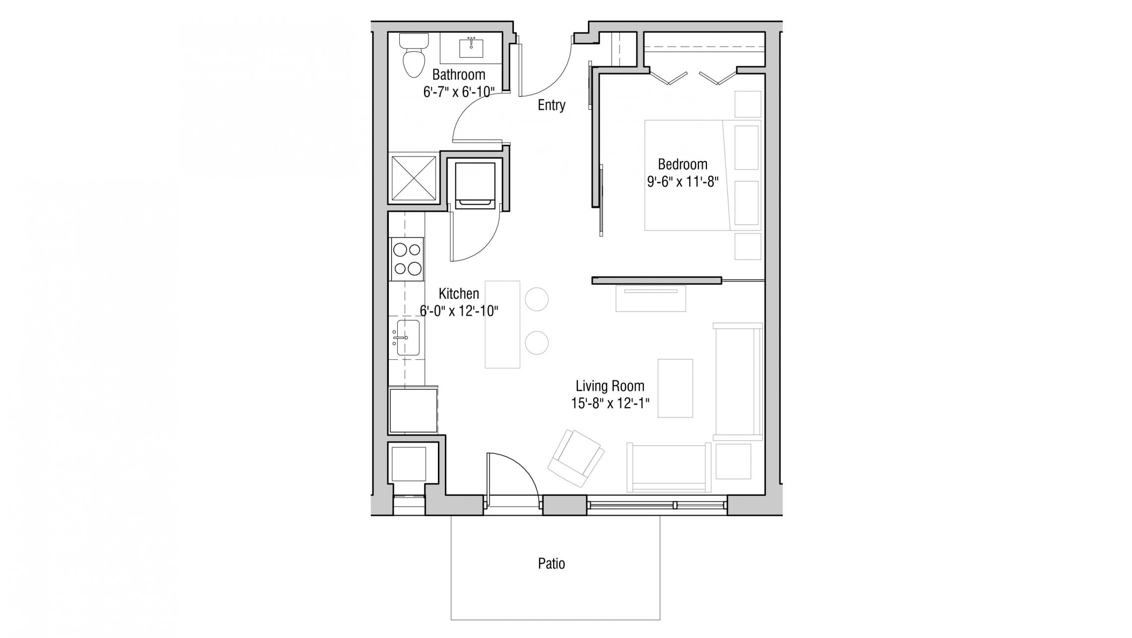 ULI Quarter Row 108 - One Bedroom, One Bathroom