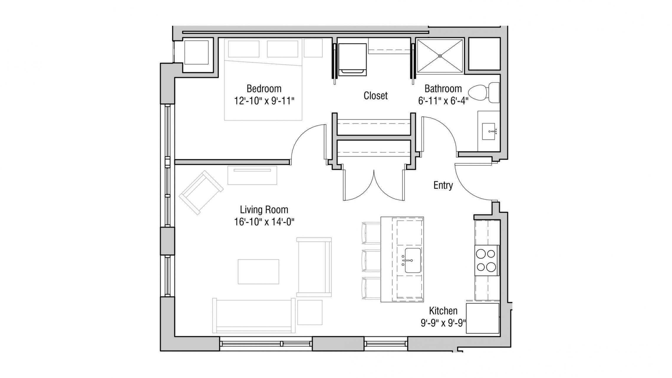 ULI Quarter Row 302 - One Bedroom, One Bathroom
