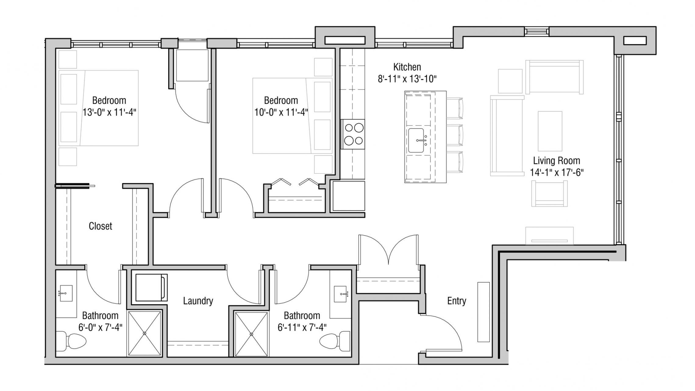 ULI Quarter Row 315 - Two Bedroom, Two Bathroom