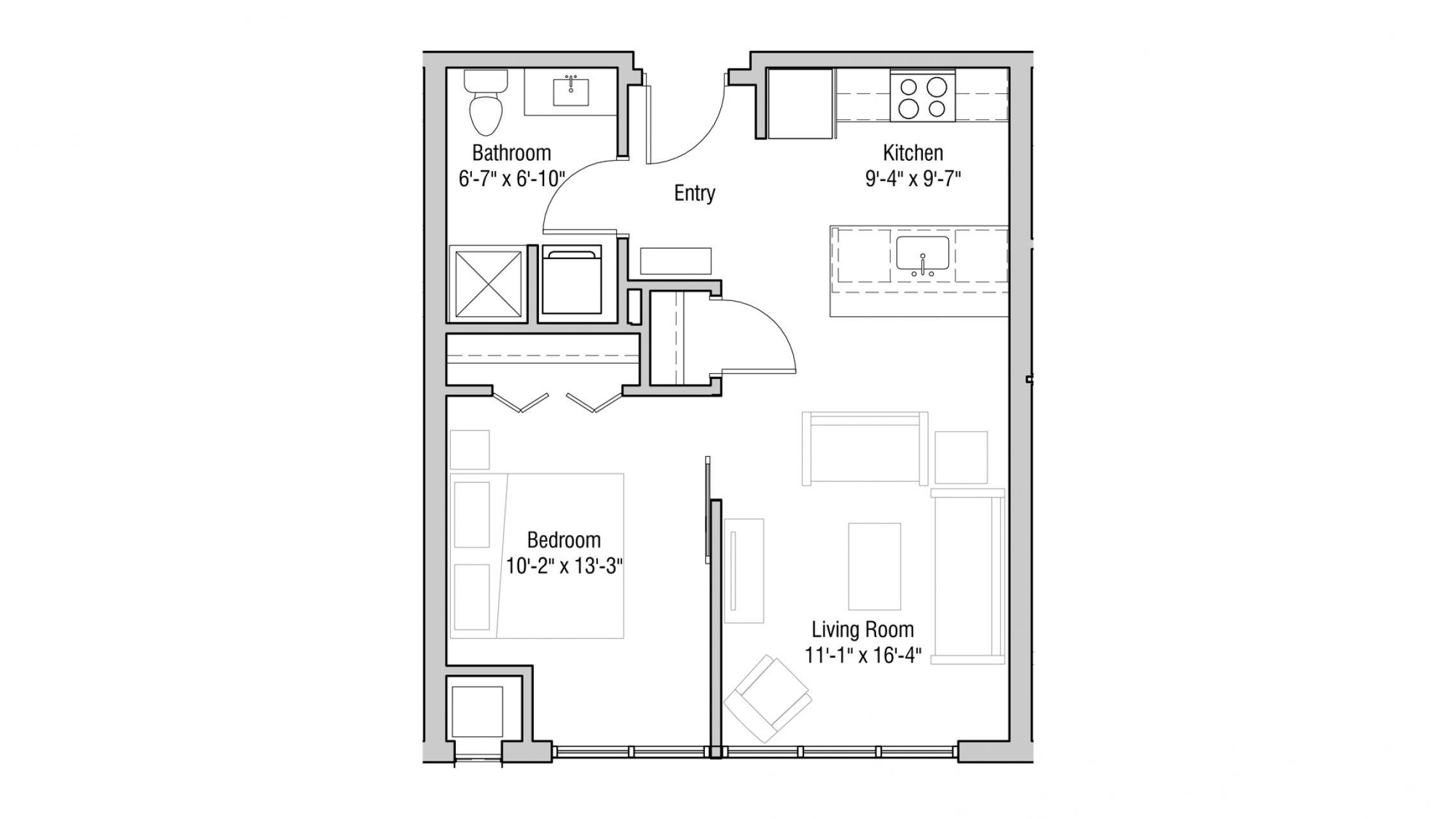 ULI Quarter Row 408 - One Bedroom, One Bathroom