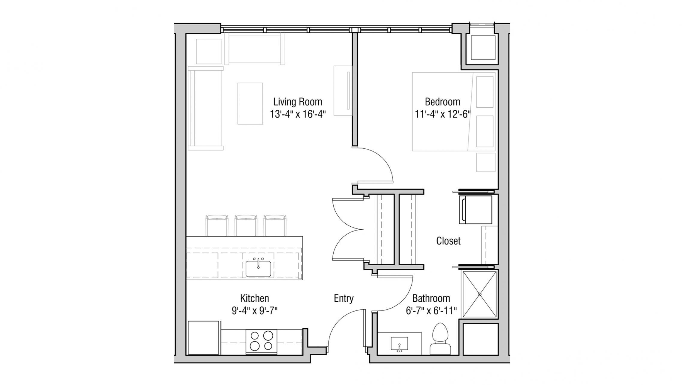ULI Quarter Row 423 - One Bedroom, One Bathroom
