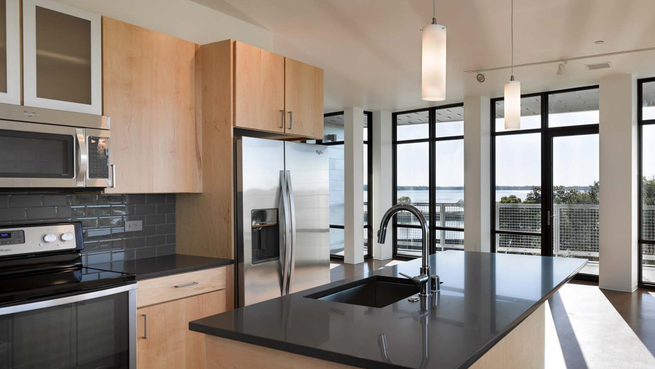 ULI Seven27 - Kitchen with a view of Lake Monona