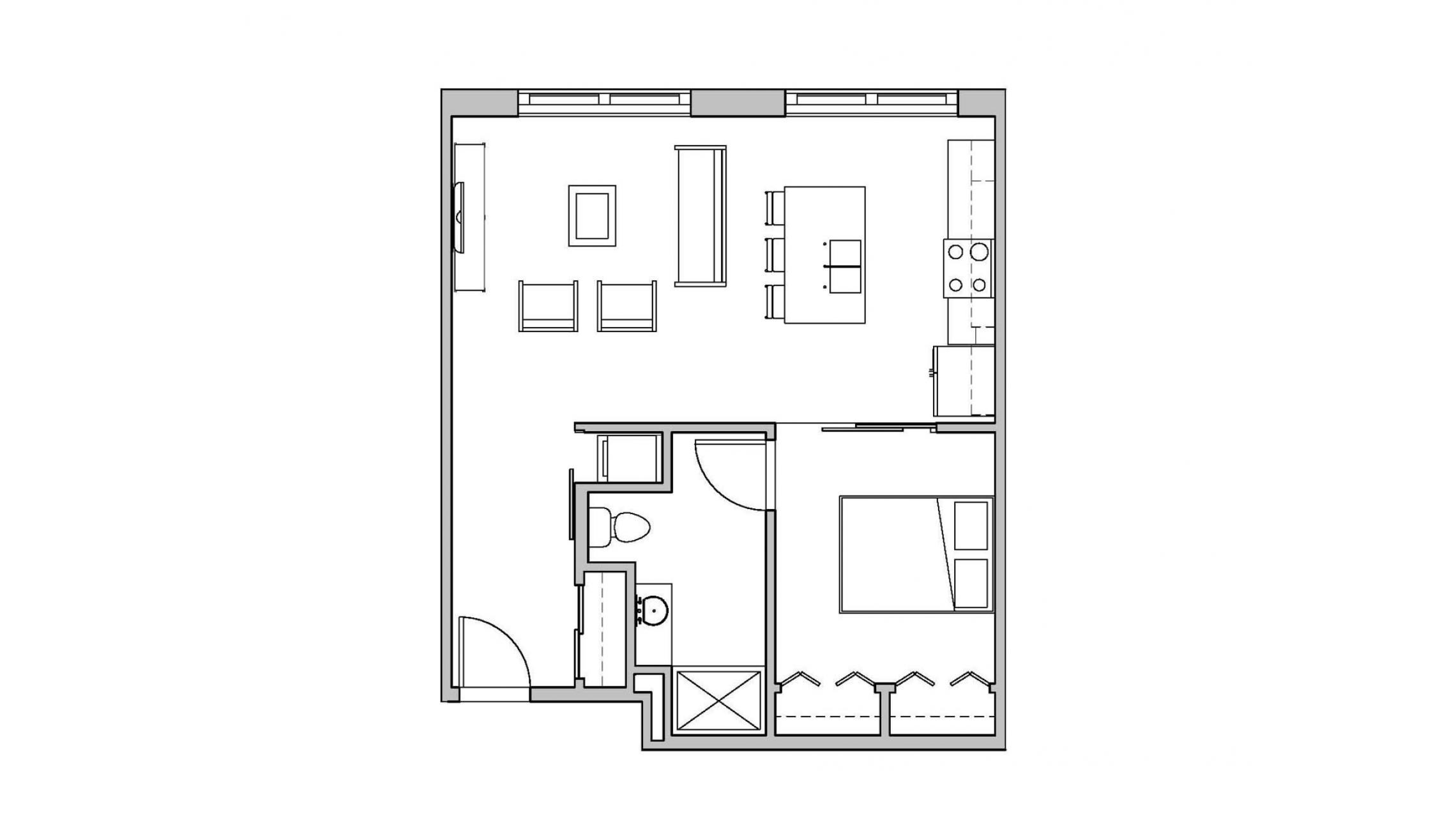 ULI Seven27 112 - One Bedroom,  One Bathroom