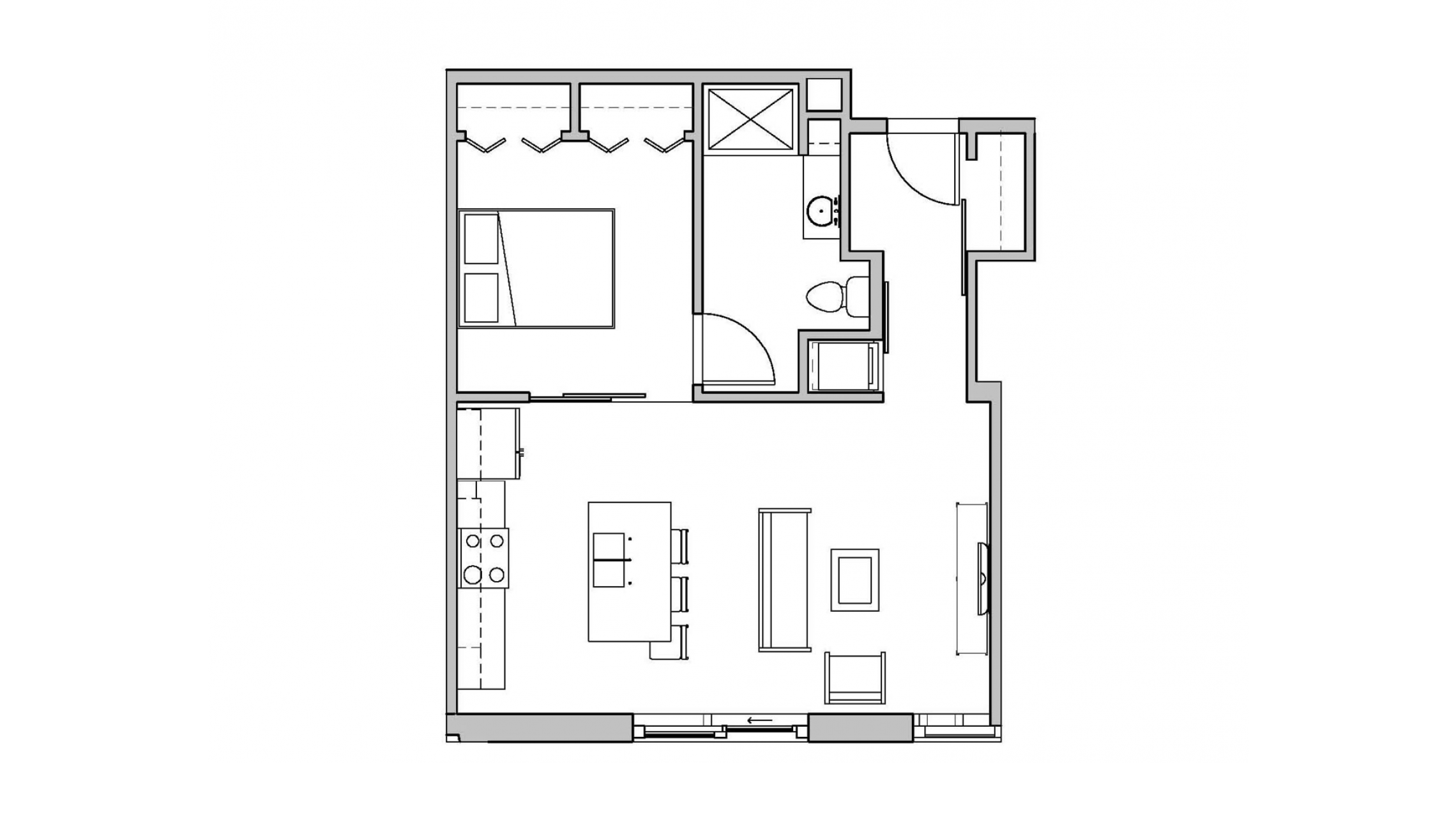 ULI Seven27 113 - One Bedroom, One Bathroom
