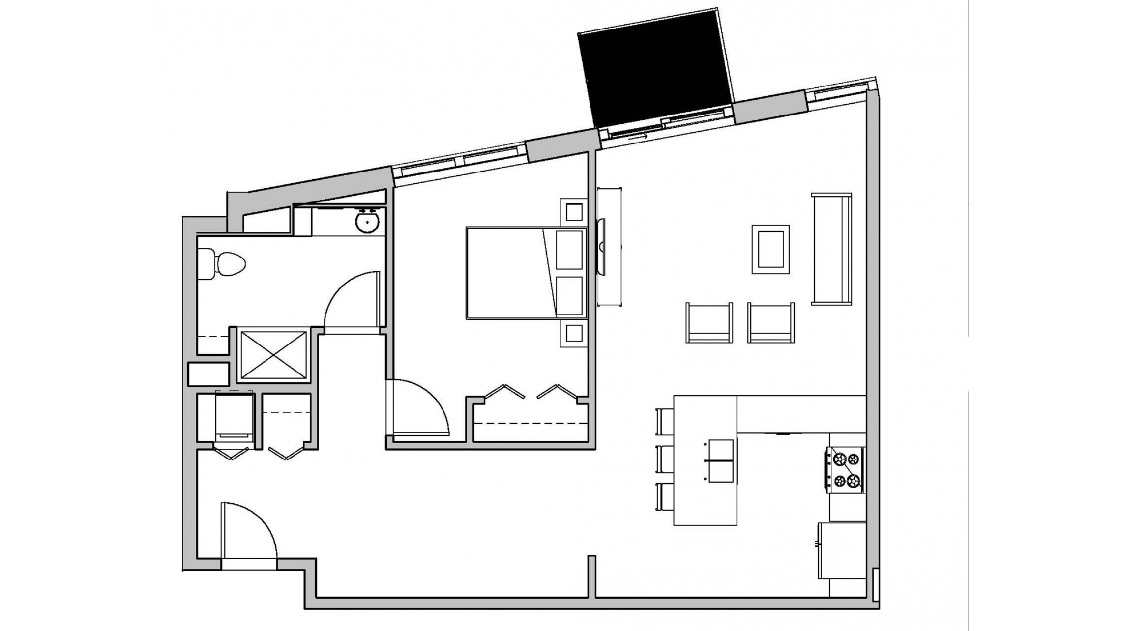 ULI Seven27 205 - One Bedroom, One Bathroom