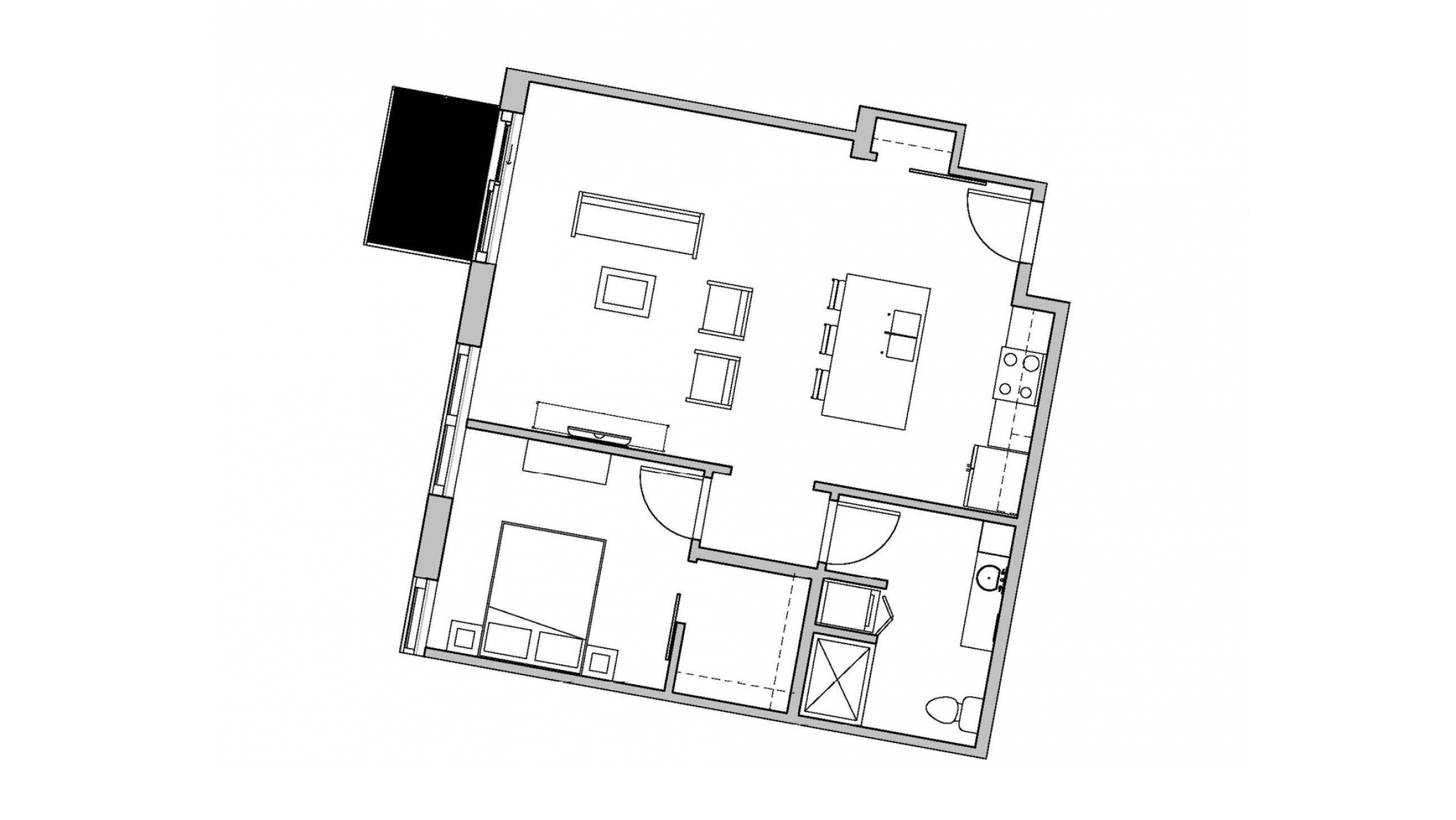 ULI Seven27 214 - One Bedroom, One Bathroom