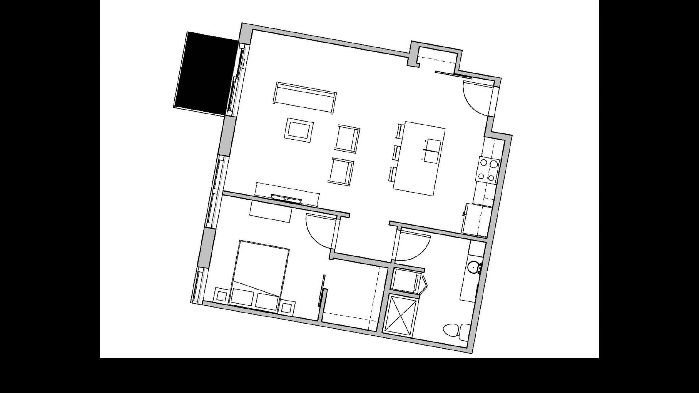 ULI Seven27 232 - One Bedroom, One Bathroom