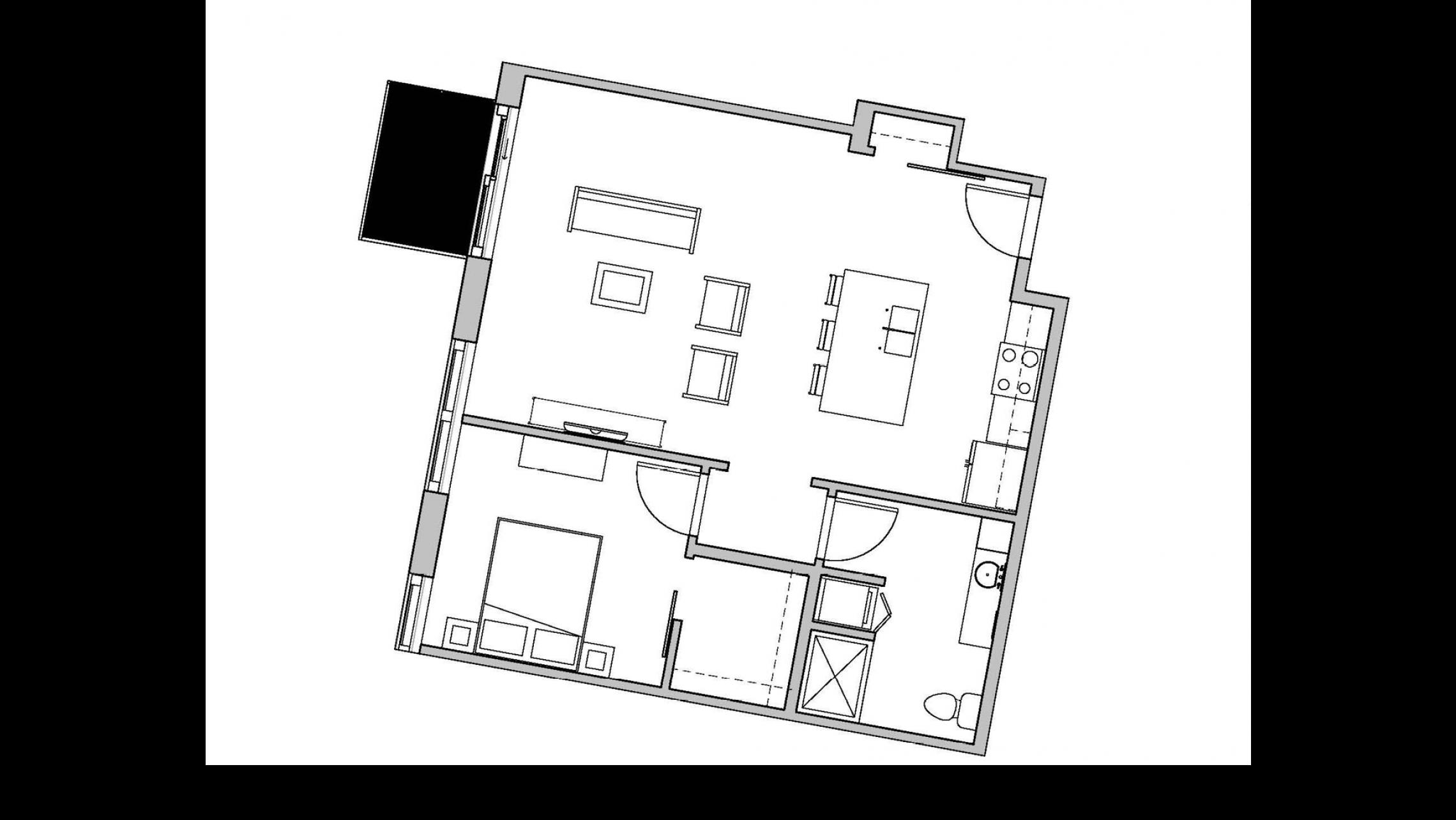 ULI Seven27 233 - One Bedroom, One Bathroom