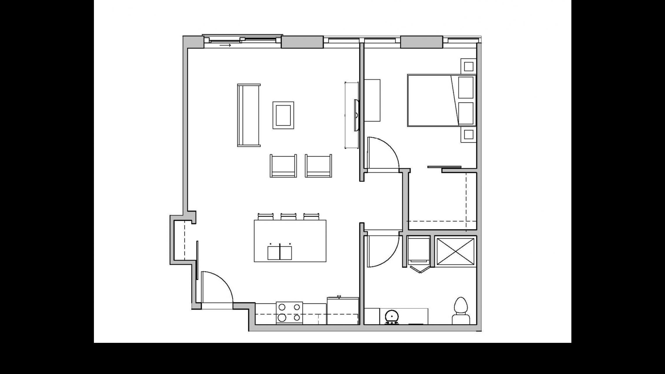 ULI Seven27 318 - One Bedroom, One Bathroom