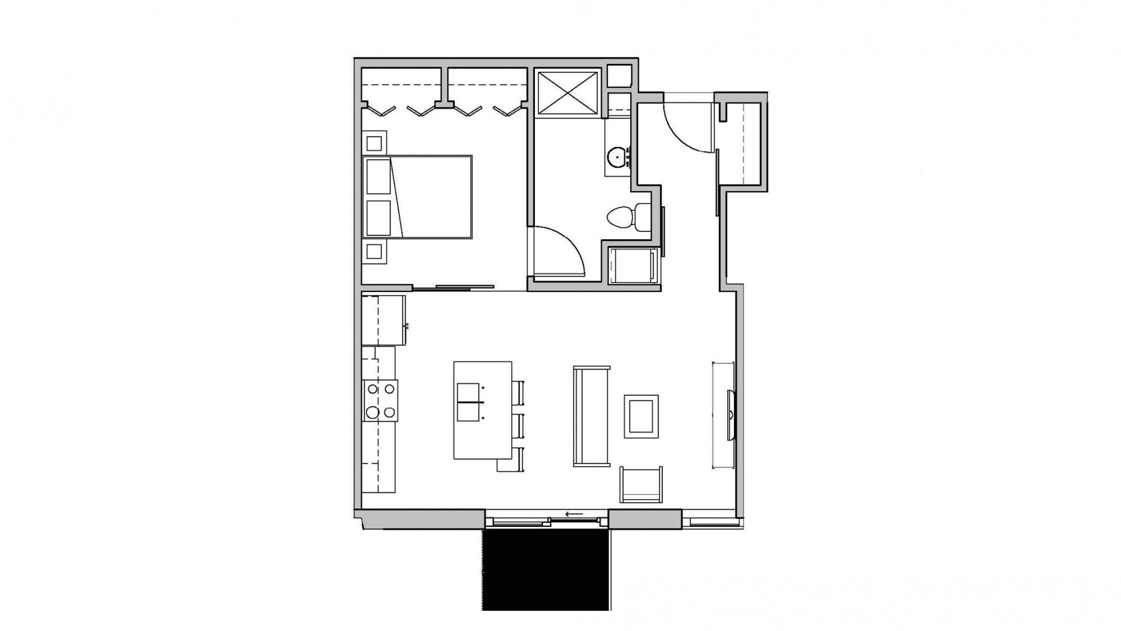 ULI Seven27 413 - One Bedroom, One Bathroom