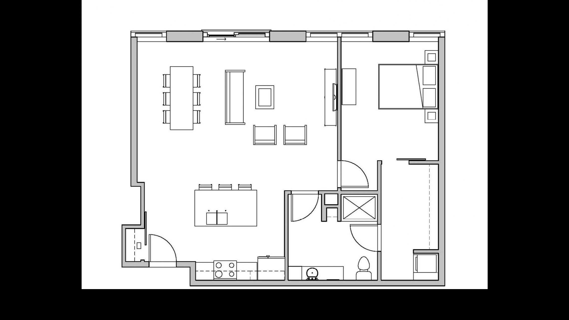 ULI Seven27 414 - One Bedroom, One Bathroom