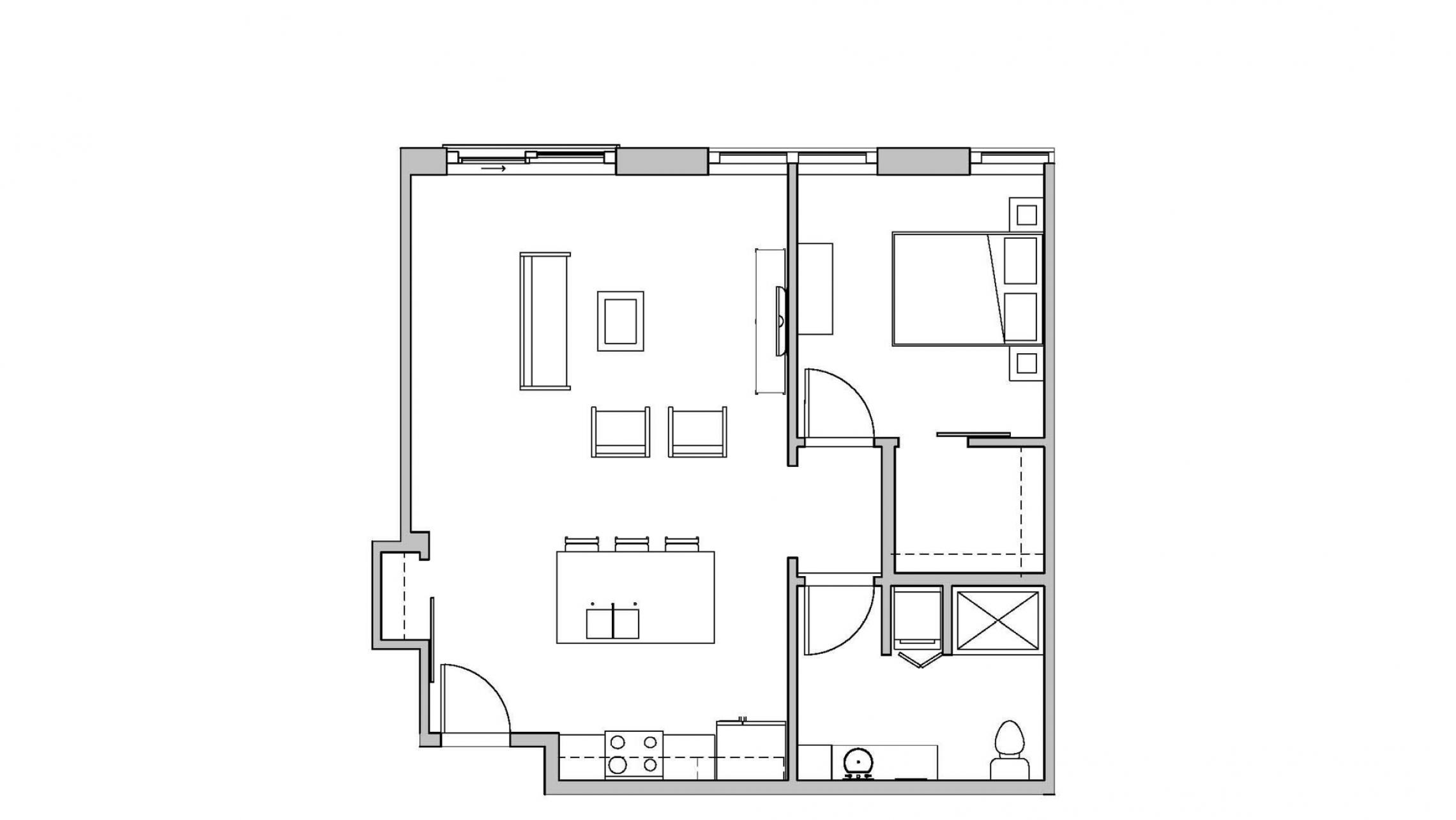 ULI Seven27 419 - One Bedroom, One Bathroom